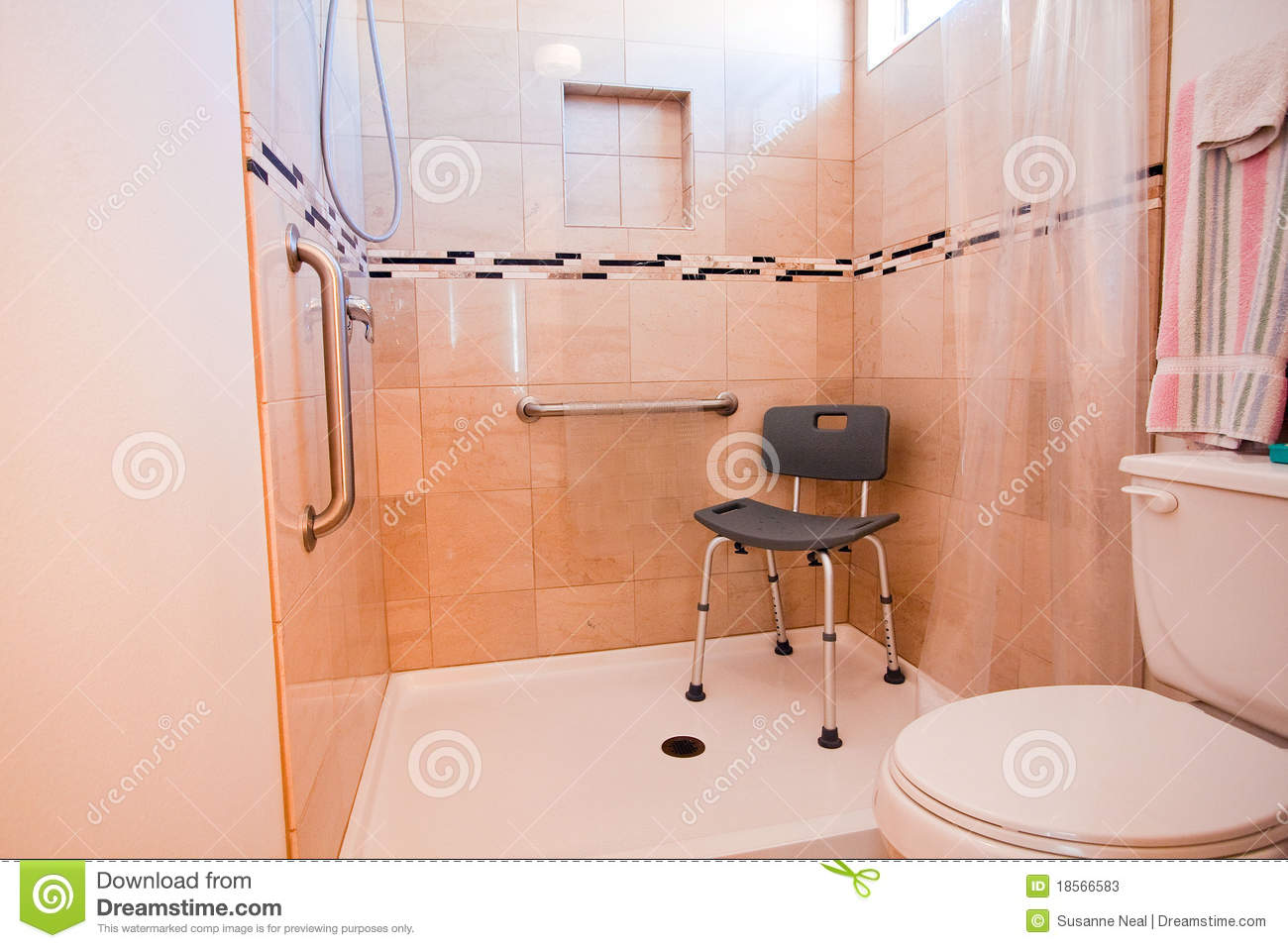 Handicapped Shower Stall Stock Photos Image 18566583