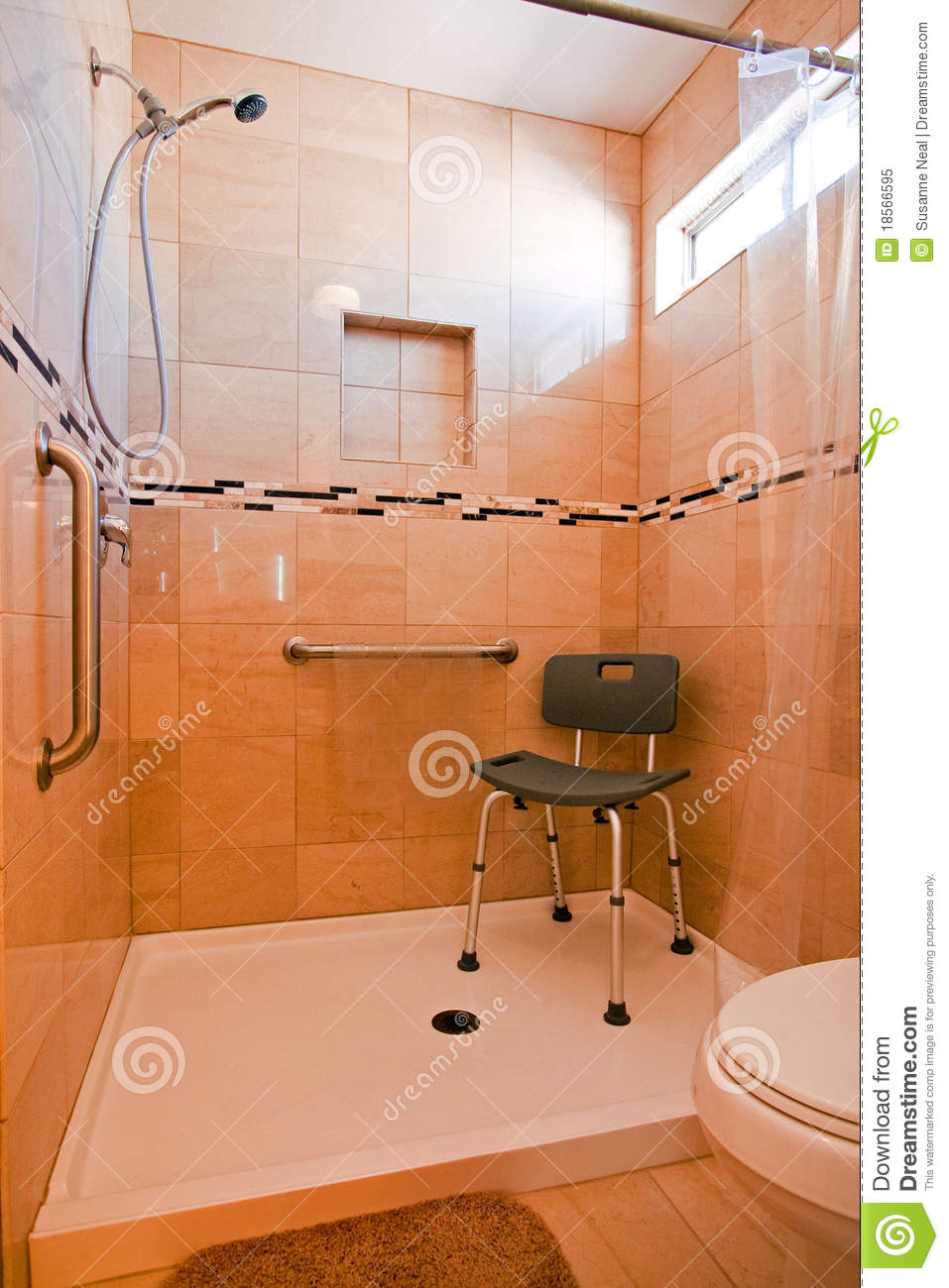 Handicapped Shower Stall Royalty Free Stock Photo - Image: 18566595