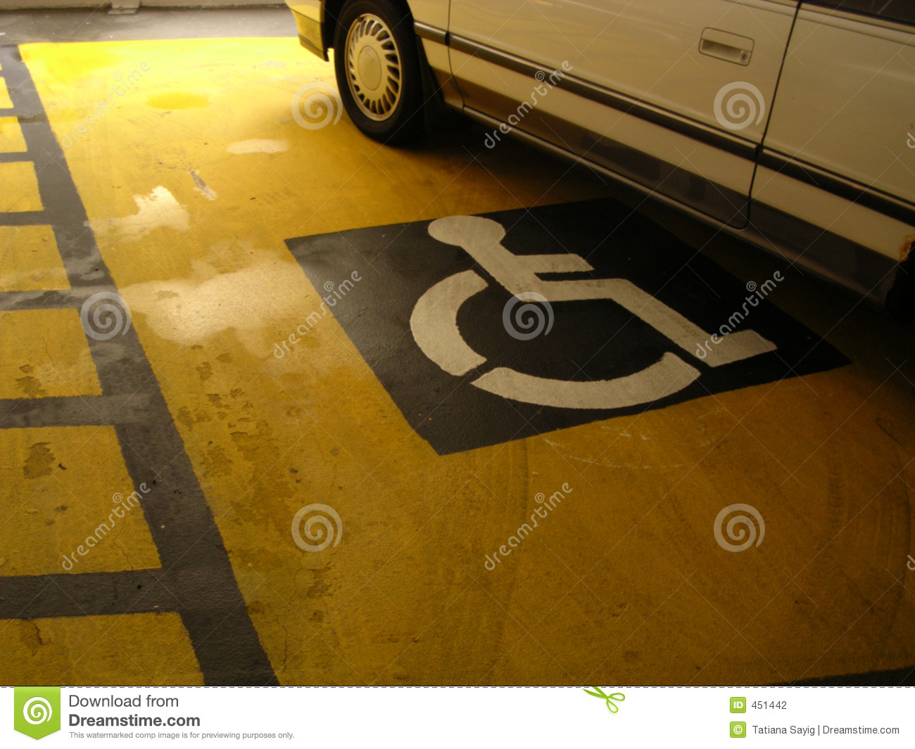 Download Handicapped Sign stock photo. Image of space, automobile - 451442