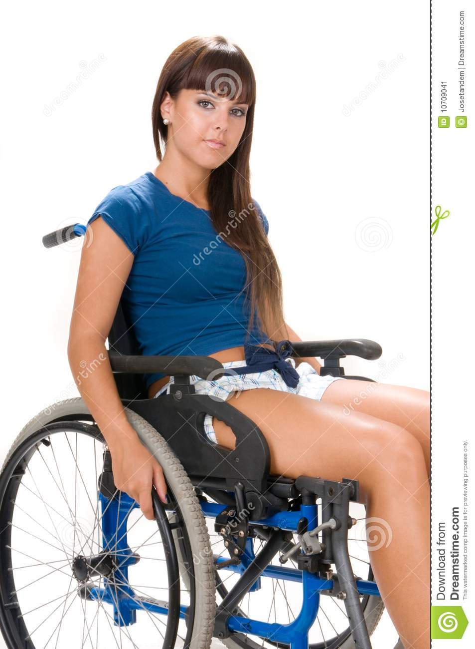 Handicapped woman on wheelchair stock image image 10709041 Handicap wheelchair