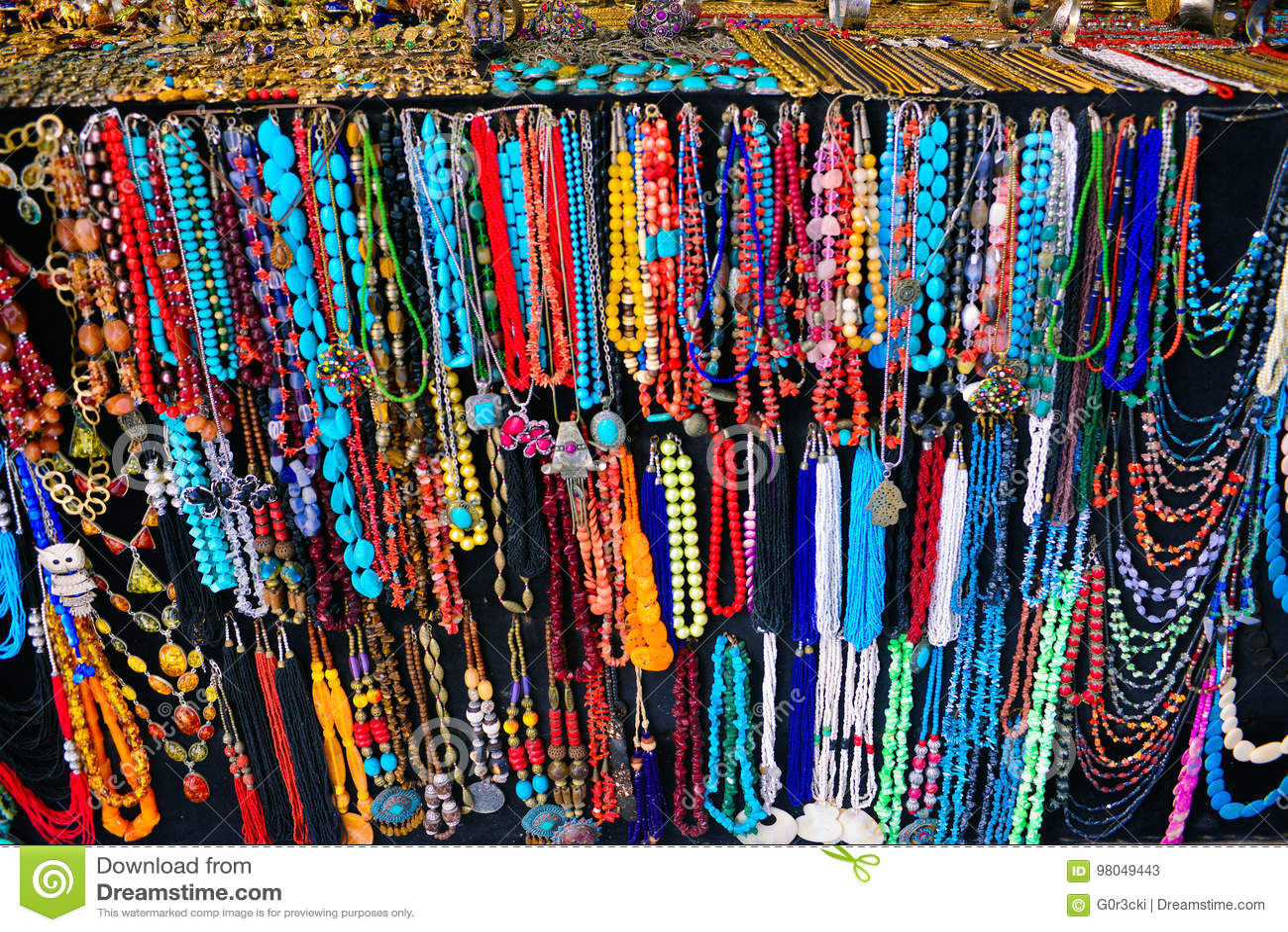a76ba26bfbdc Colorful tunisian or arabic necklaces