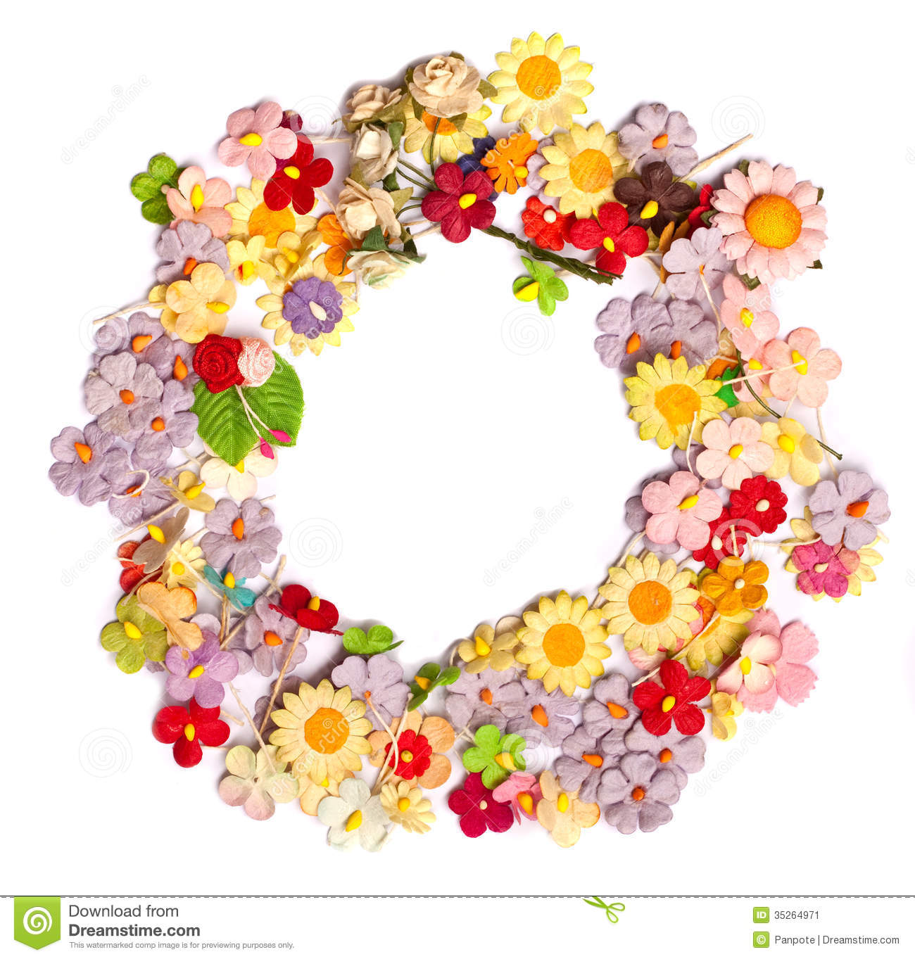 handicraft paper flower stock image image 35264971