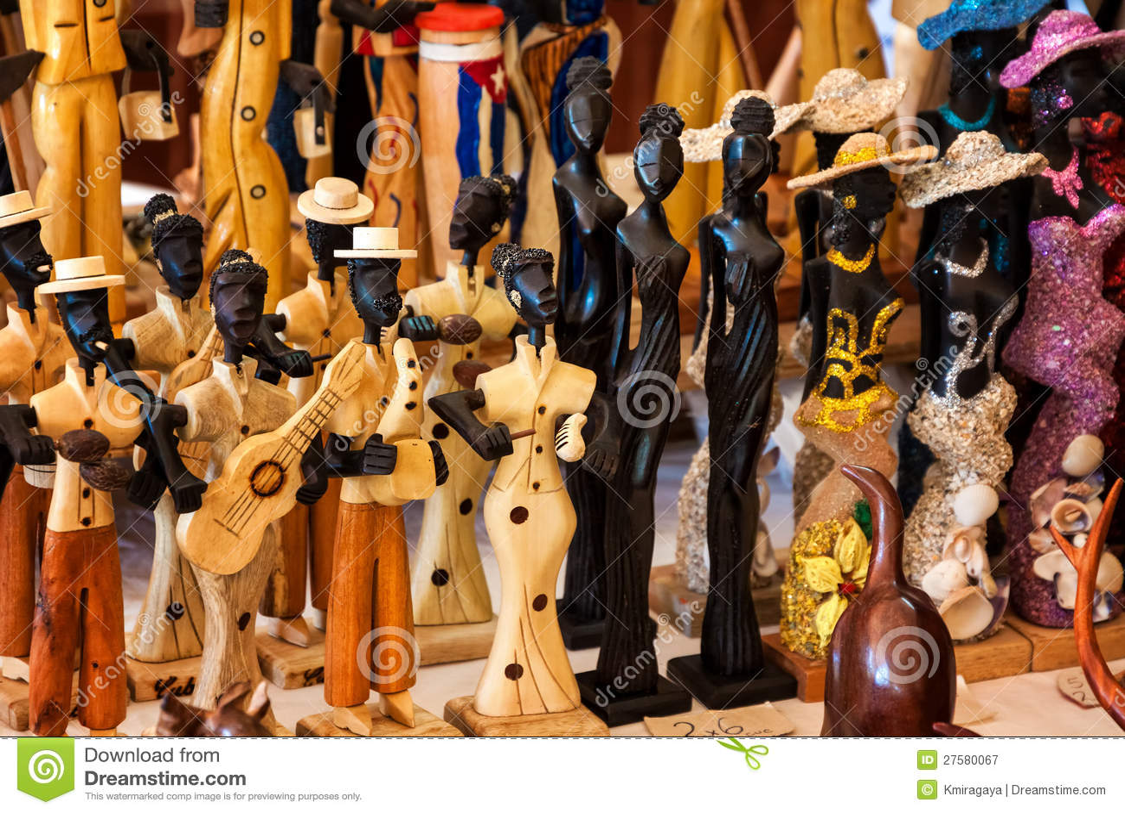 Handicraft For Sale In A Cuban Street Market Royalty Free