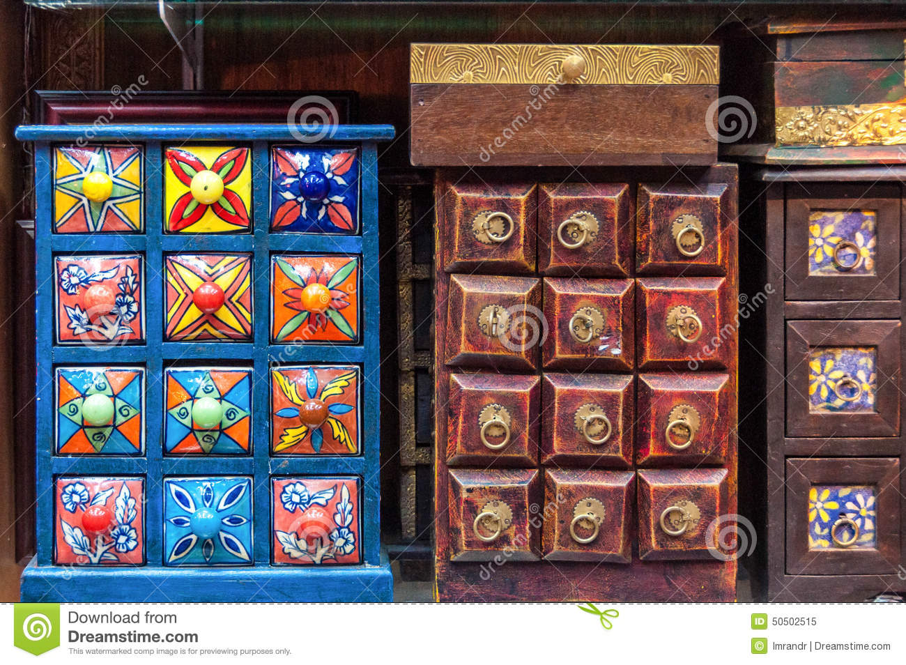 Handicrafts On Sale In Muttrah Souq Muscat Oman Stock Image