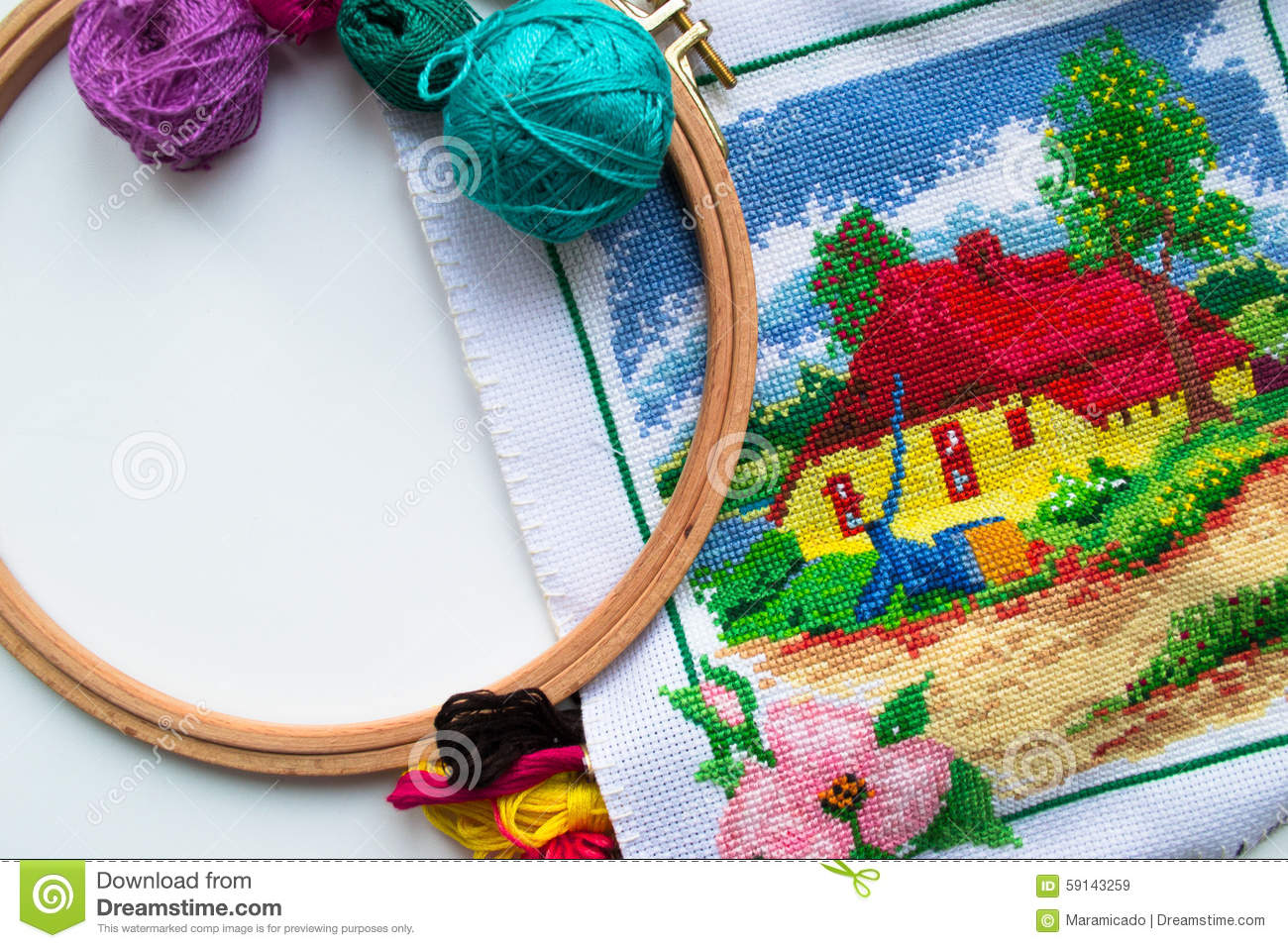 Handicrafts  Sewing And Embroidery Stock Photo  Image