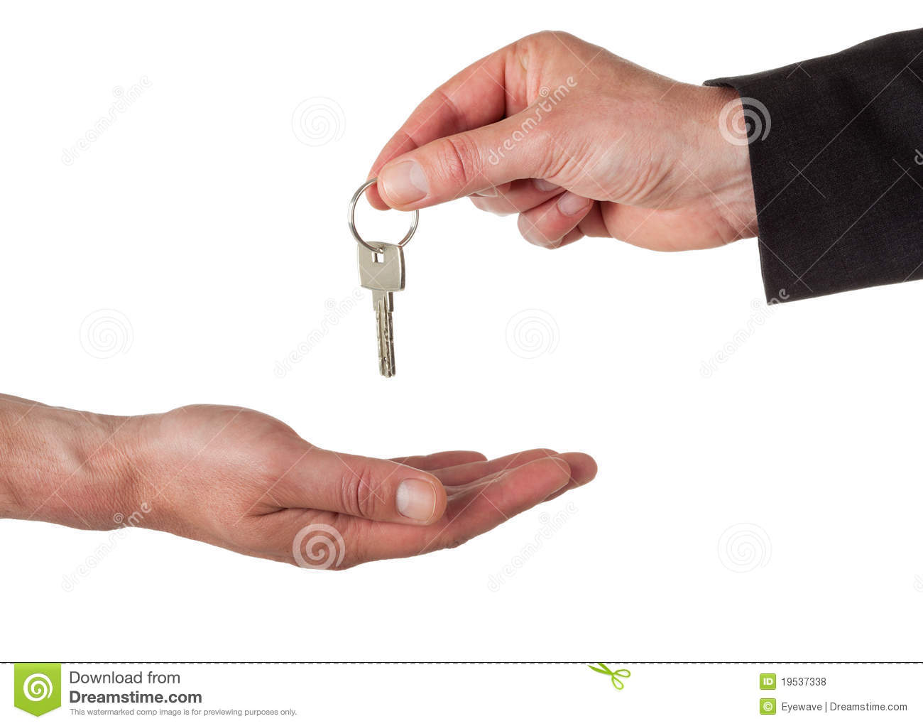 handing out the key stock photo image of handing apartment 19537338