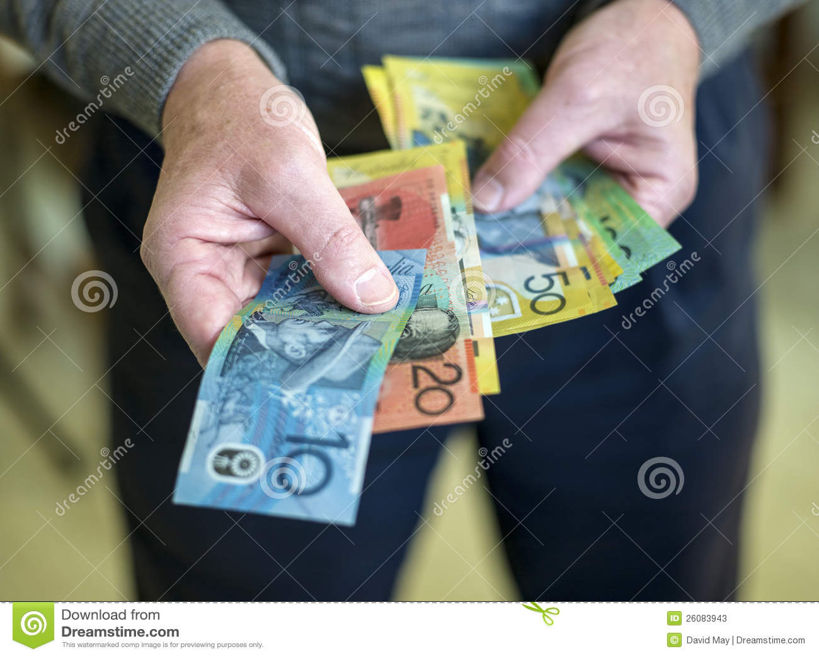 Handing over the money