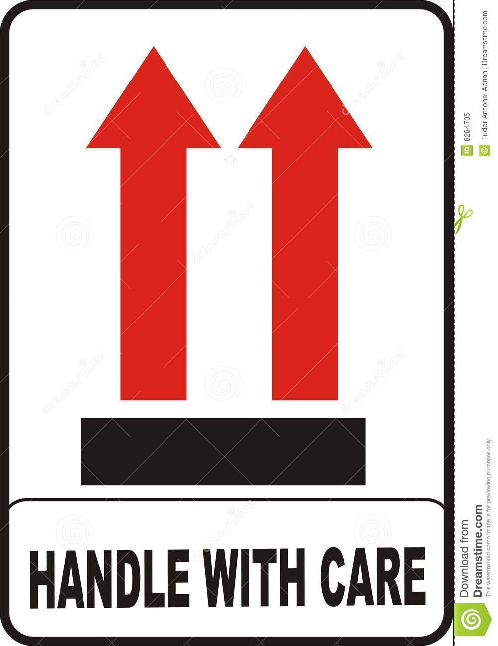 Handle with care stock illustration illustration of arrow 8284705 handle with care buycottarizona