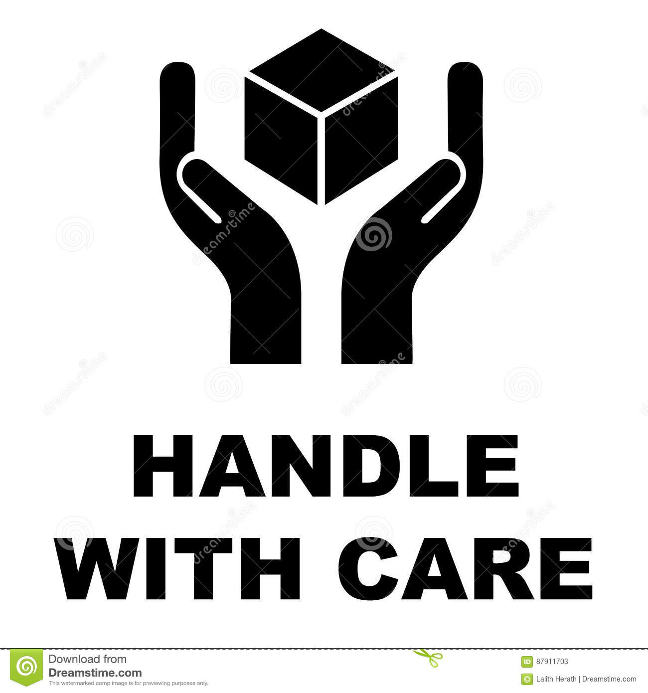 Handle with care icon stock vector illustration of fragile 87911703 handle with care icon buycottarizona