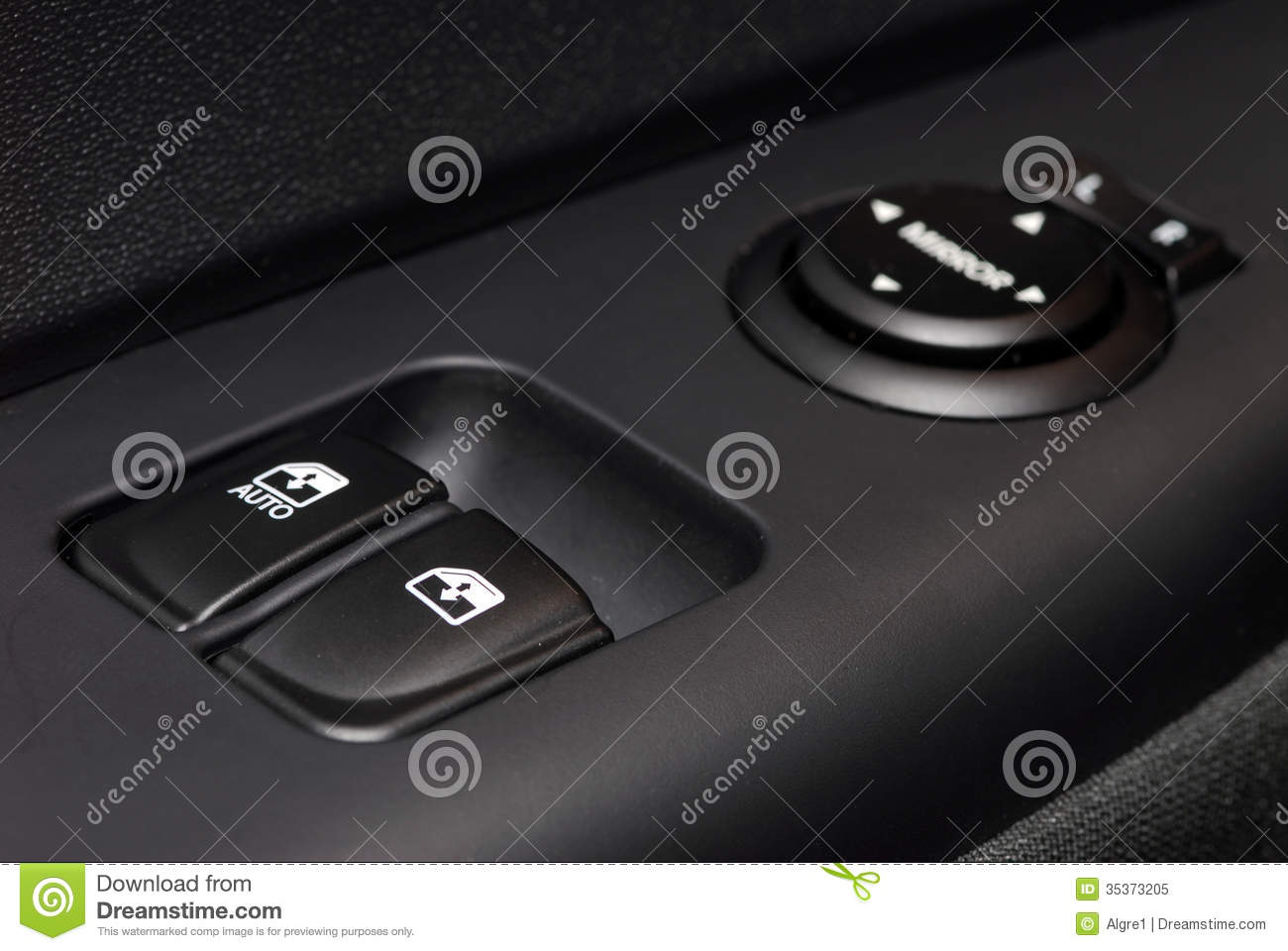 Handle on the door car window control panel stock image for How much to fix car window motor