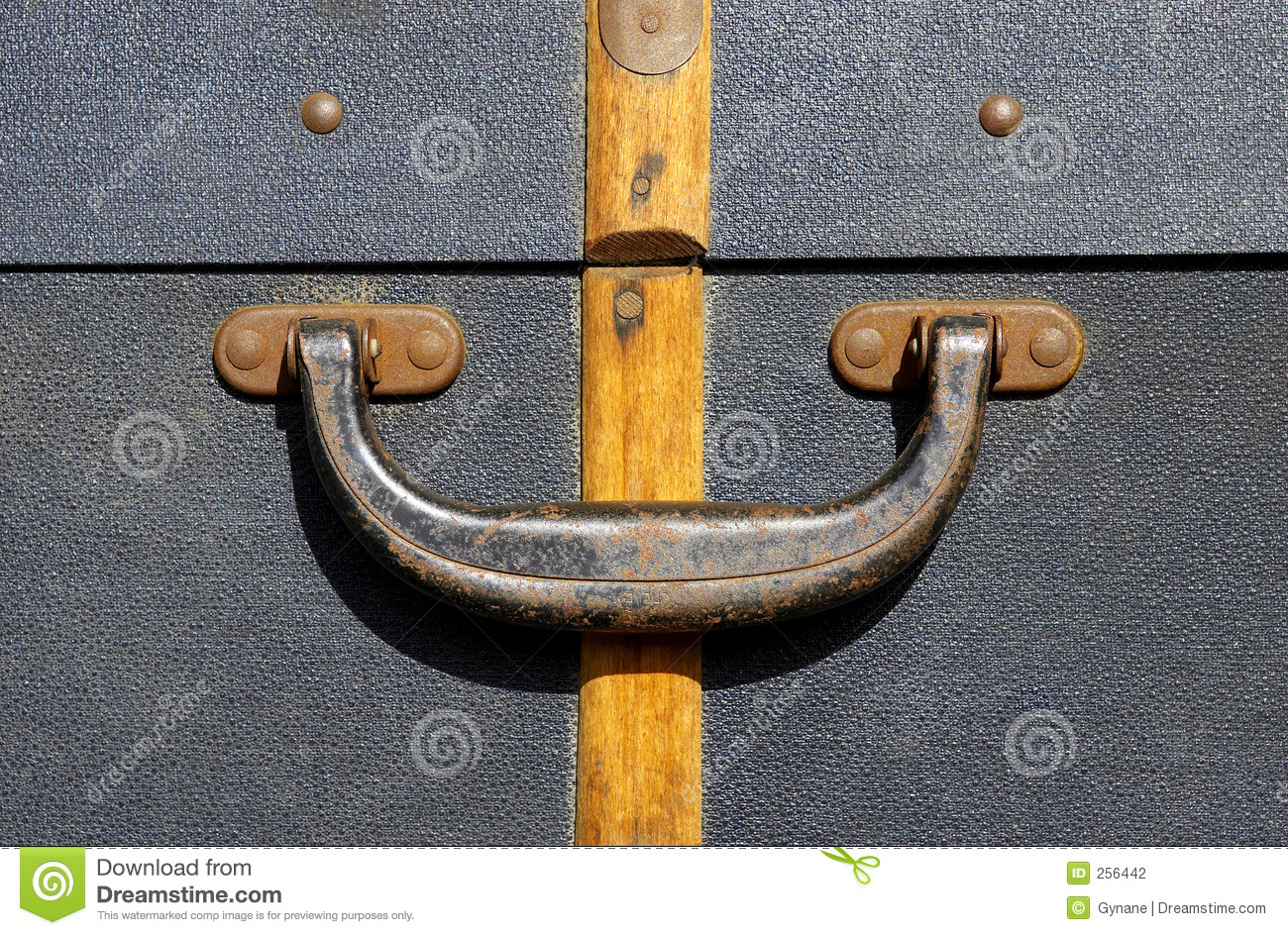 Handle On An Old Suitcase Stock Photography - Image: 256442