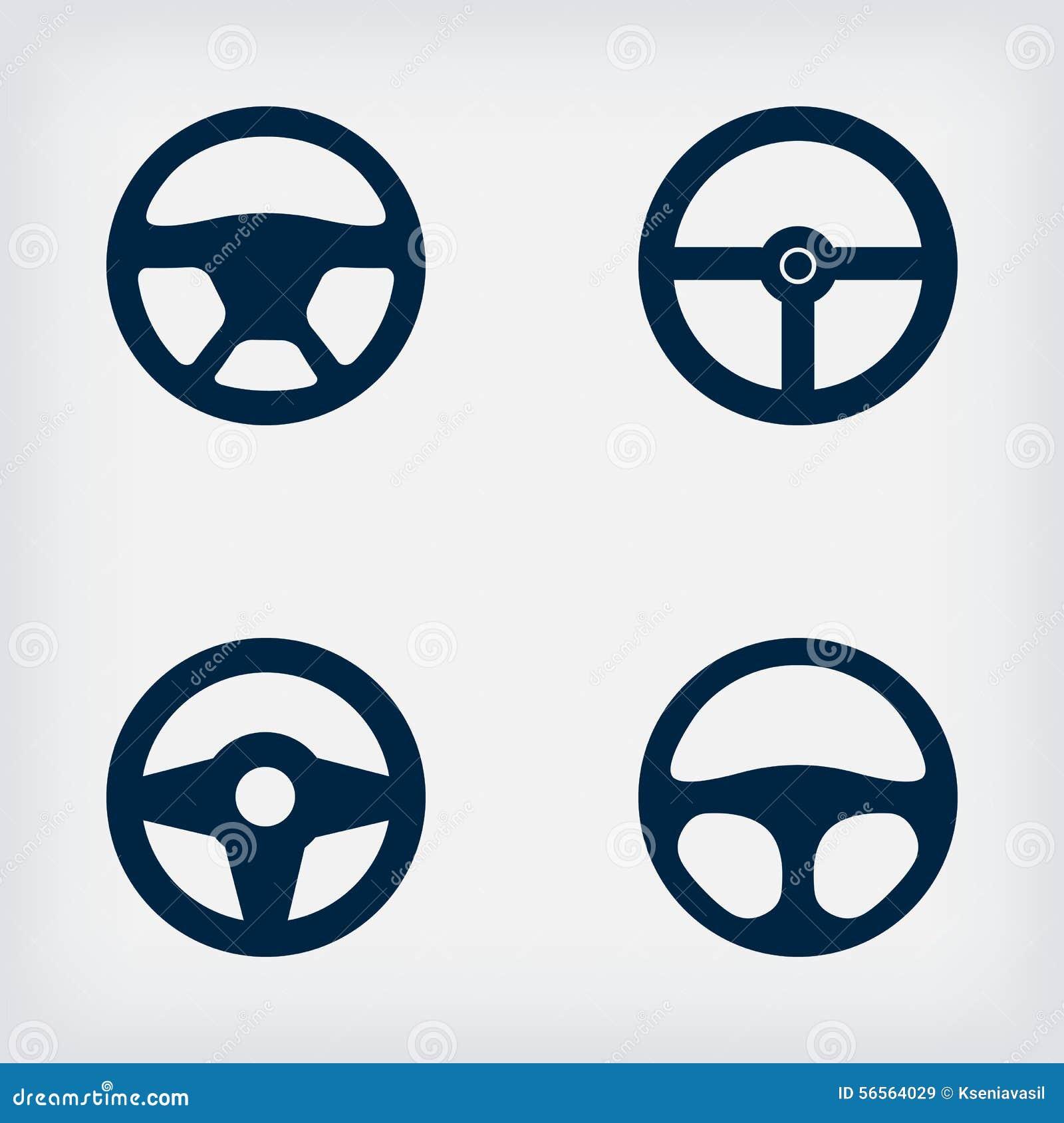 Download Handlebars αυτοκίνητο τιμόνι εικονιδίων Διανυσματική απεικόνιση - εικονογραφία από πρόγραμμα, διάδρομος: 56564029