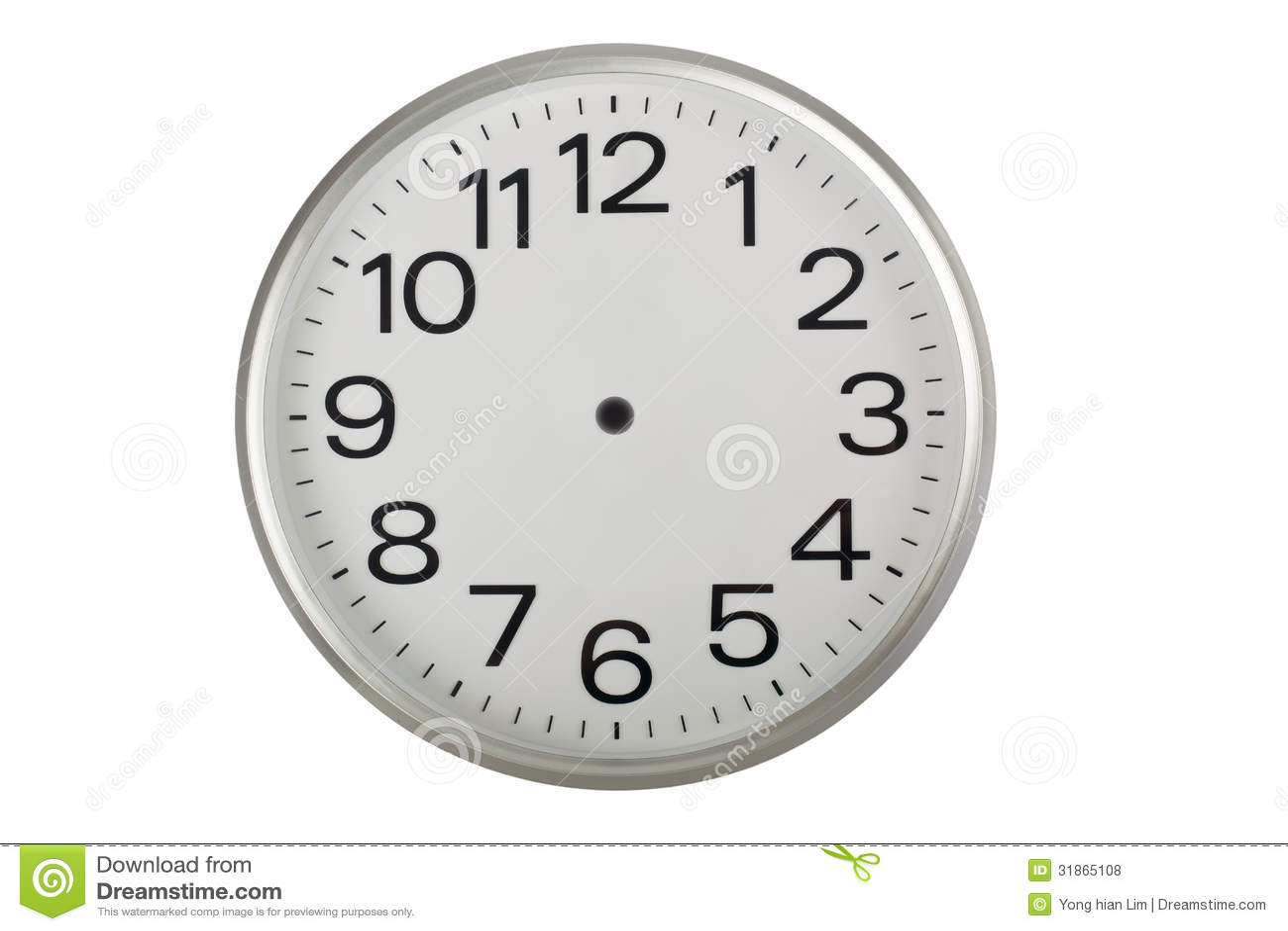 Handless Clock Royalty Free Stock Photos Image 31865108
