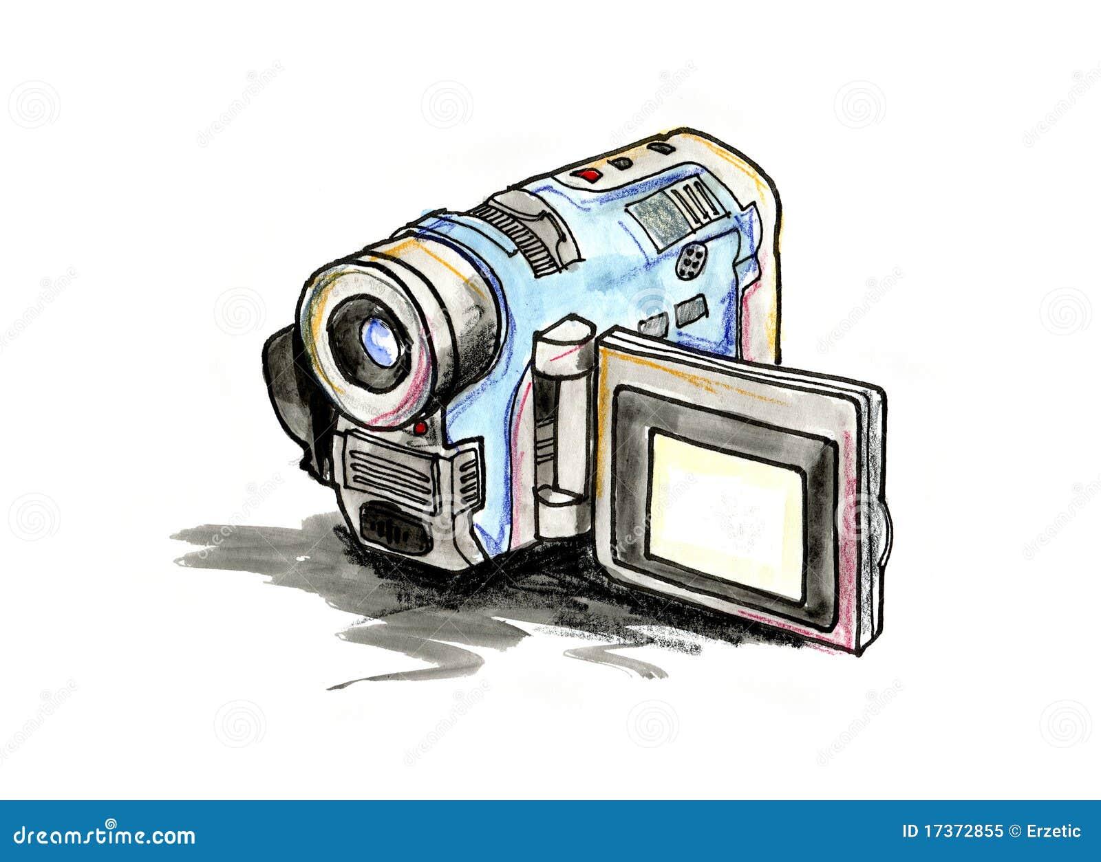 handliche videokamera lizenzfreies stockfoto bild 17372855. Black Bedroom Furniture Sets. Home Design Ideas