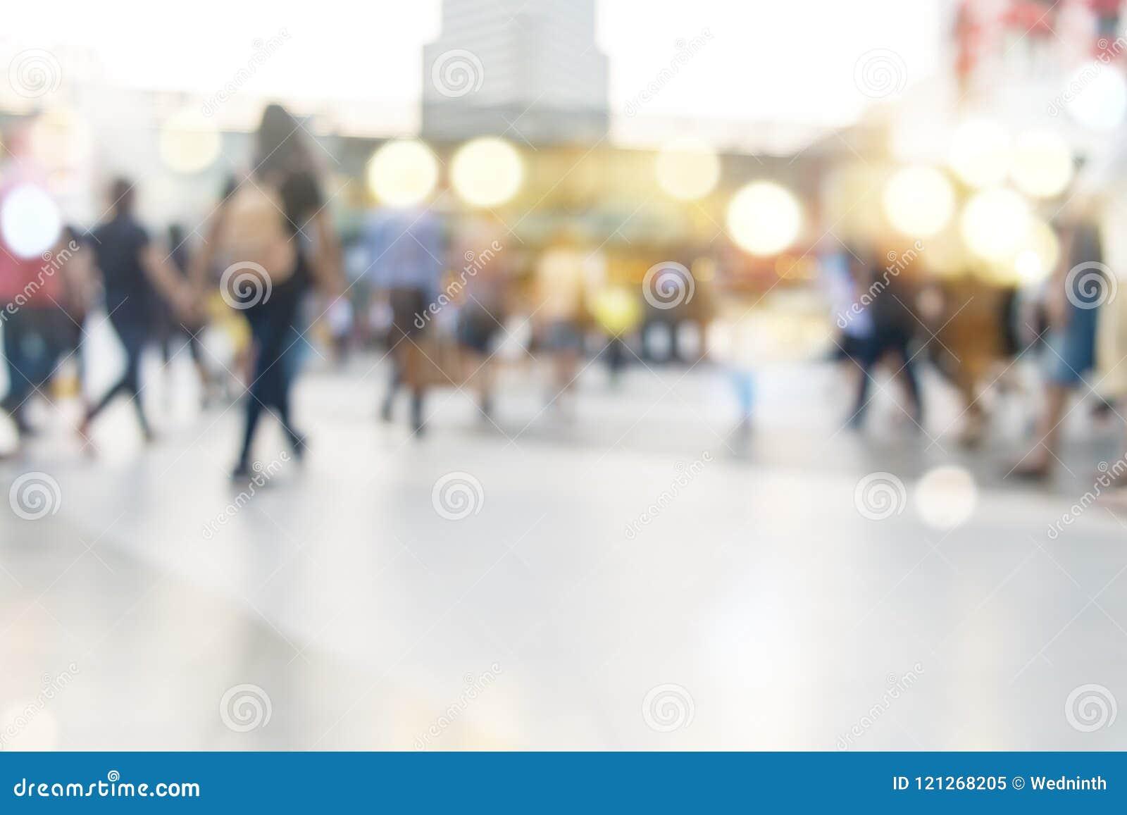 Handling för suddighet för bakgrund för abstrakt begrepp för folkmassa för stadsfolk