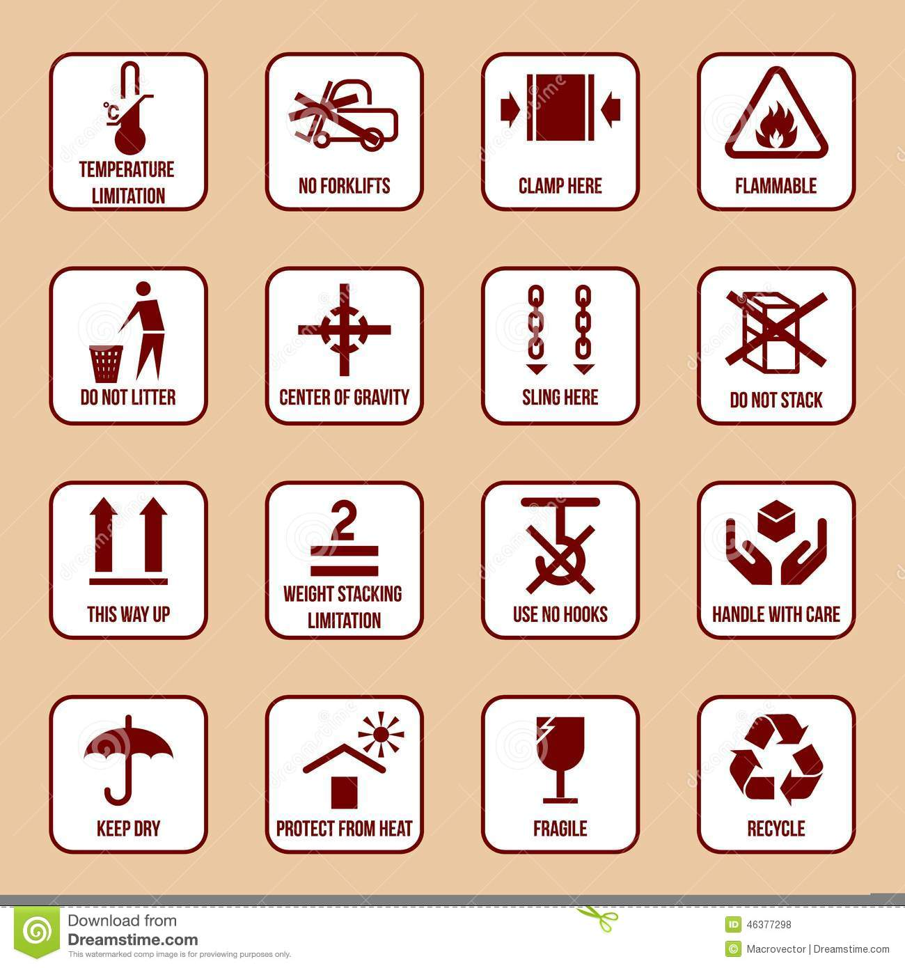 Handling and Packing Icons