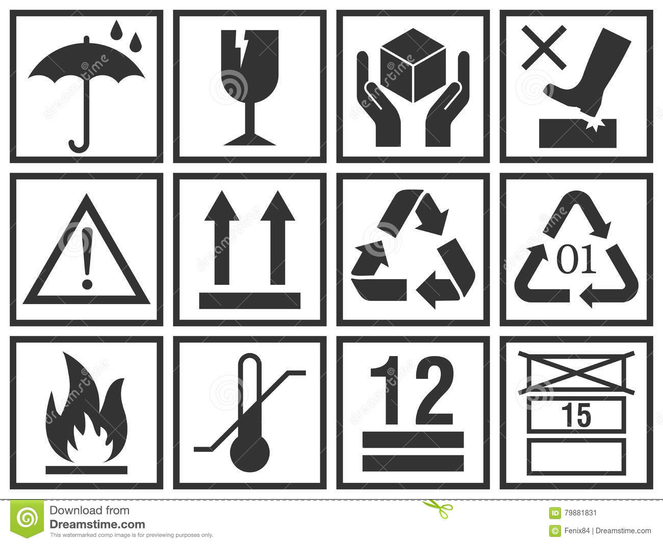 Handling and packing vector icons collection stock vector handling and packing vector icons collection buycottarizona