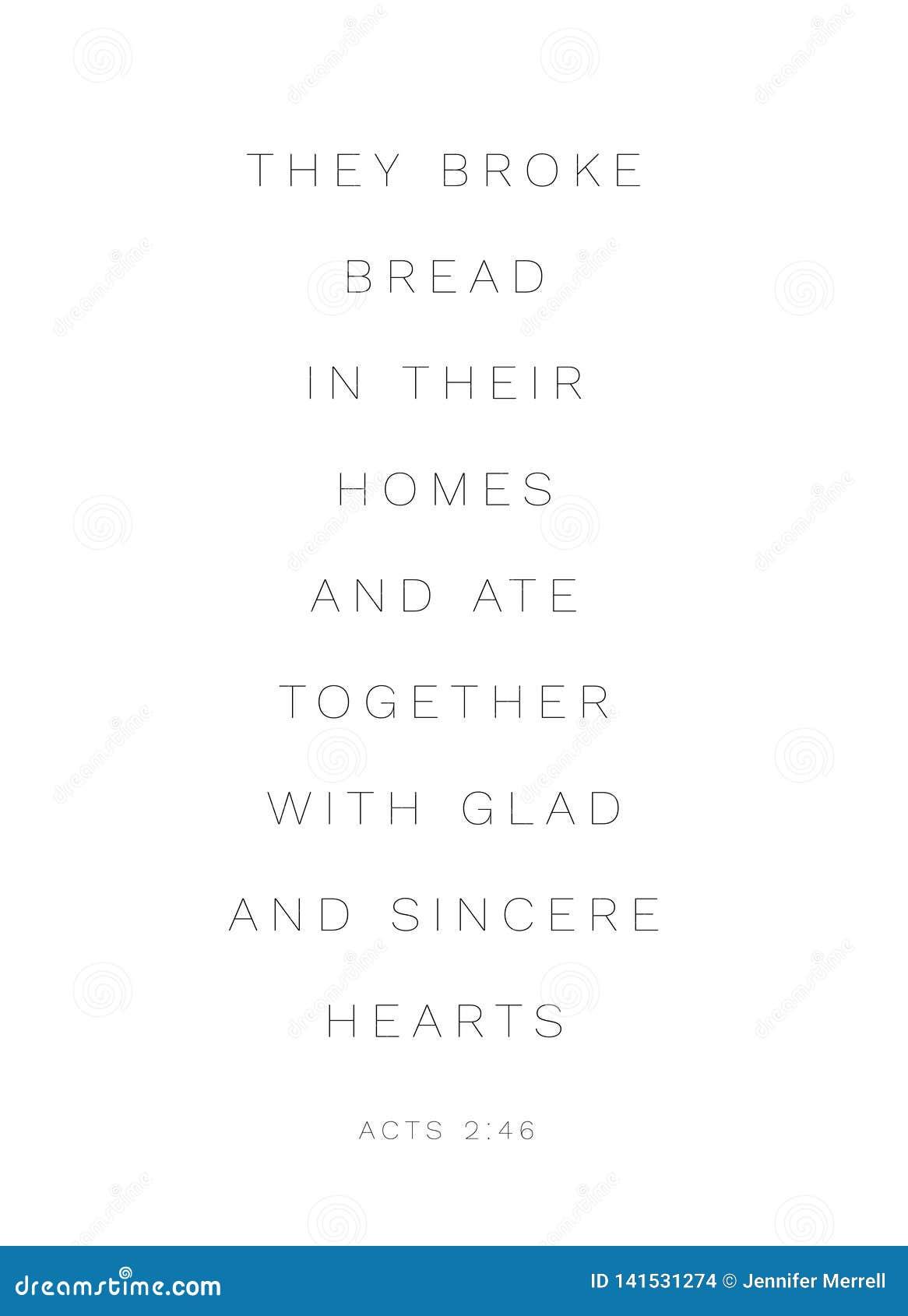 Handlings2:46 'dem brutet bröd i deras hem