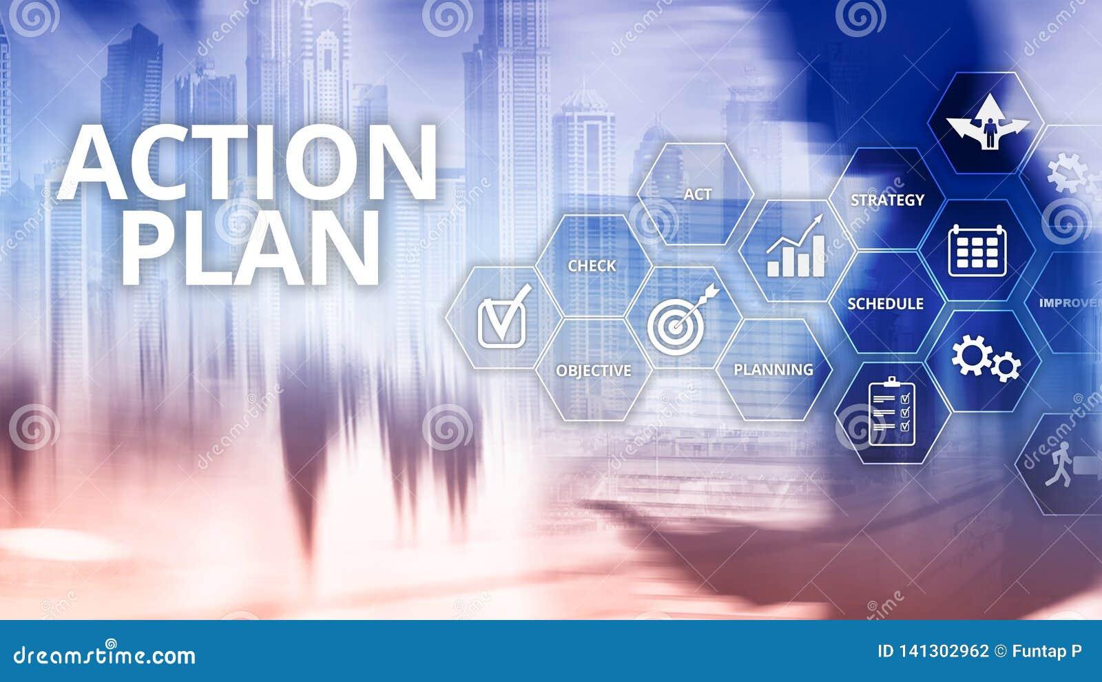 Handlingsplanstrategi som planerar visionriktning
