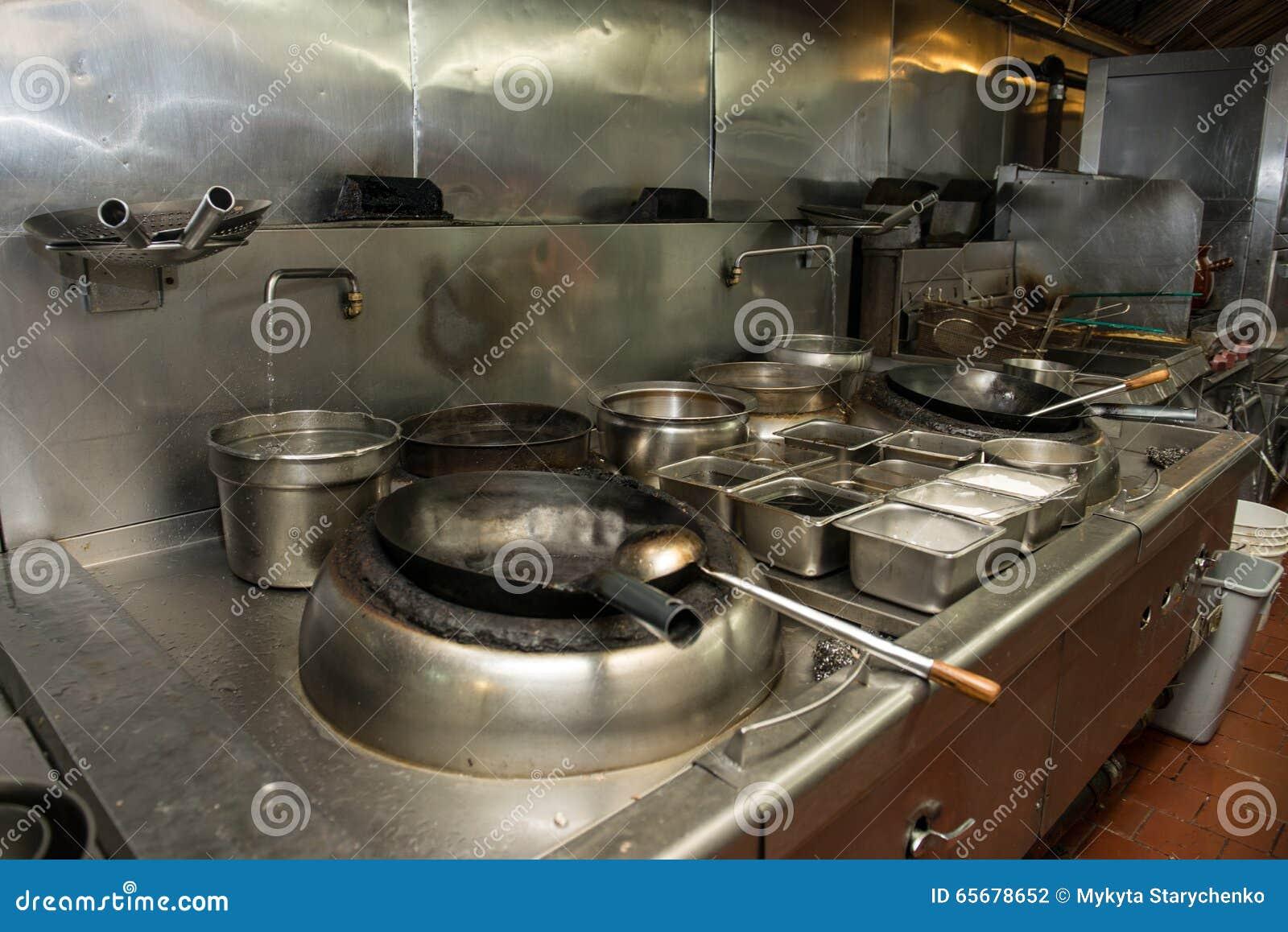 Handlowa kuchni przestrzeń w azjatykciej restauraci