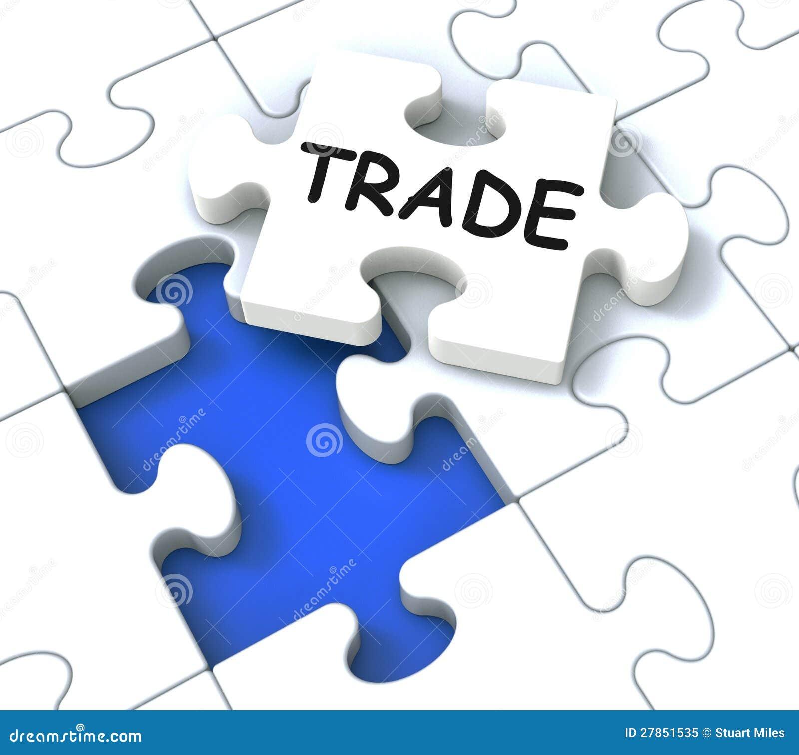 Handlowy Łamigłówki Przedstawienie Rynek I Handel