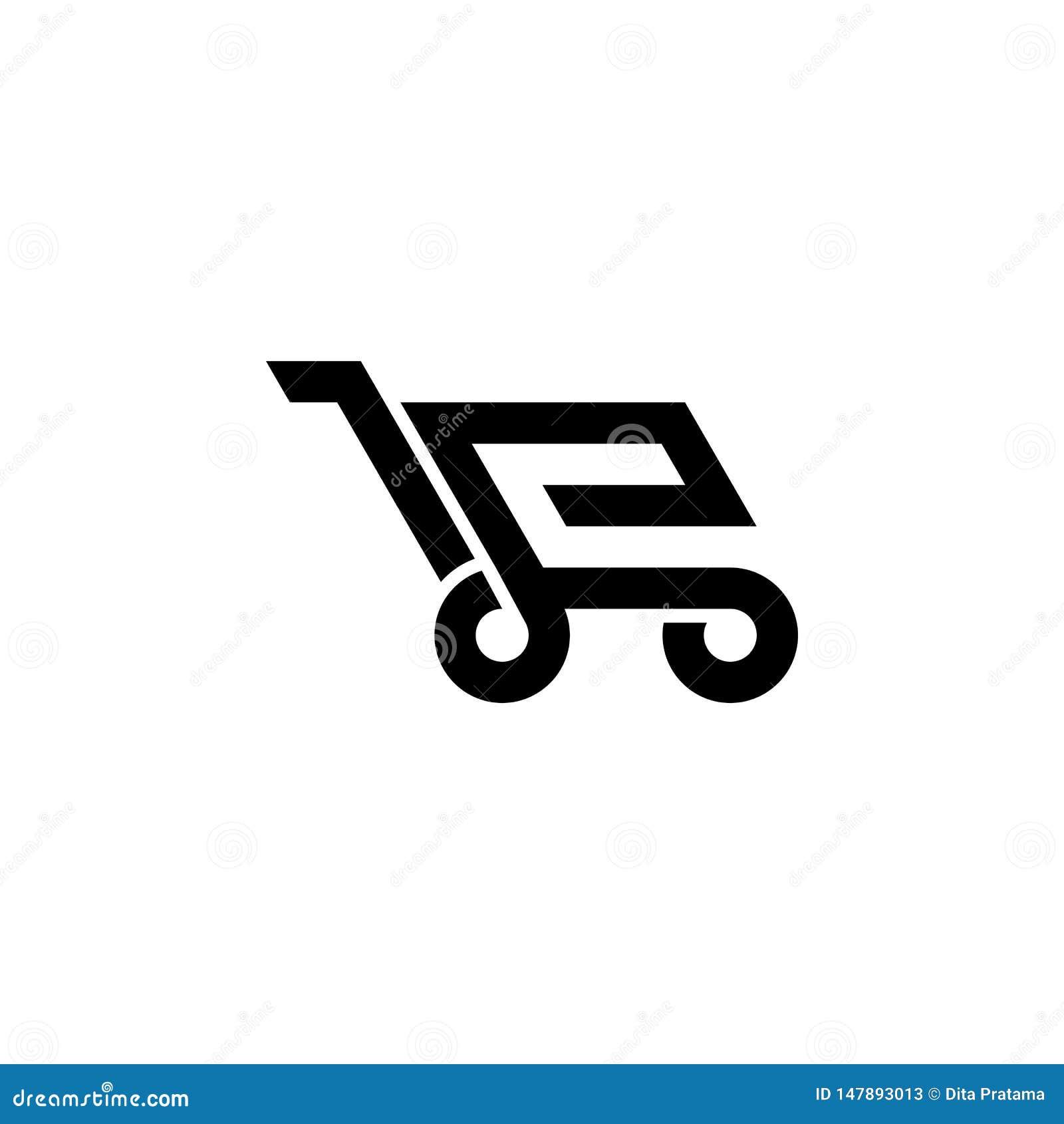 Handlu elektronicznego sklepowy logo