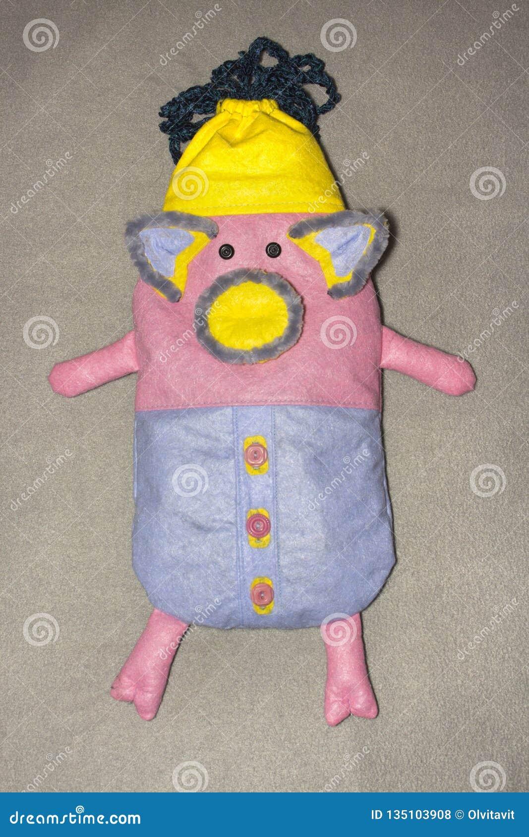 Handmade зашейте сумку подарка вискозы piggy