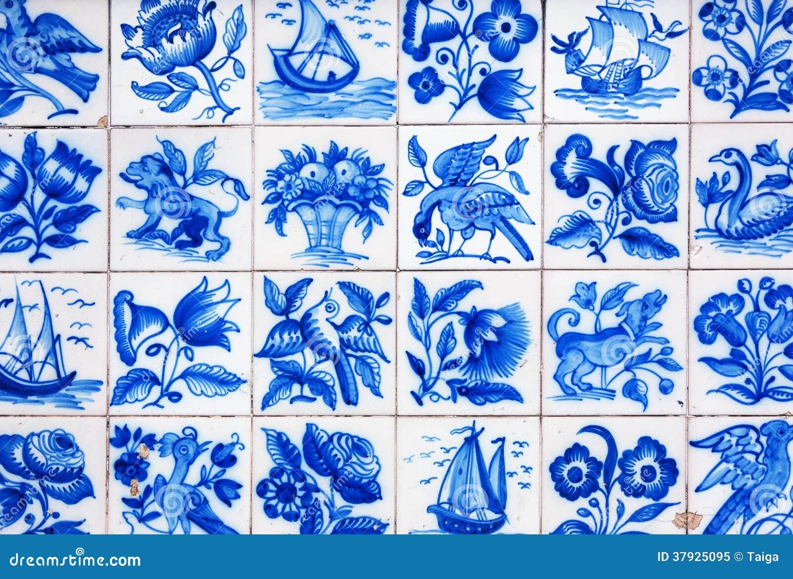 Handmade традиционная португальская плитка (azulejos), Лиссабон, Португалия