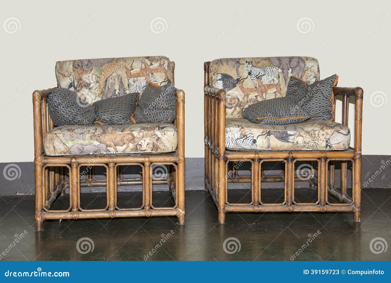 Handmade Bamboo Furniture Stock Image Image Of Lion 39159723 # Muebles Debambu