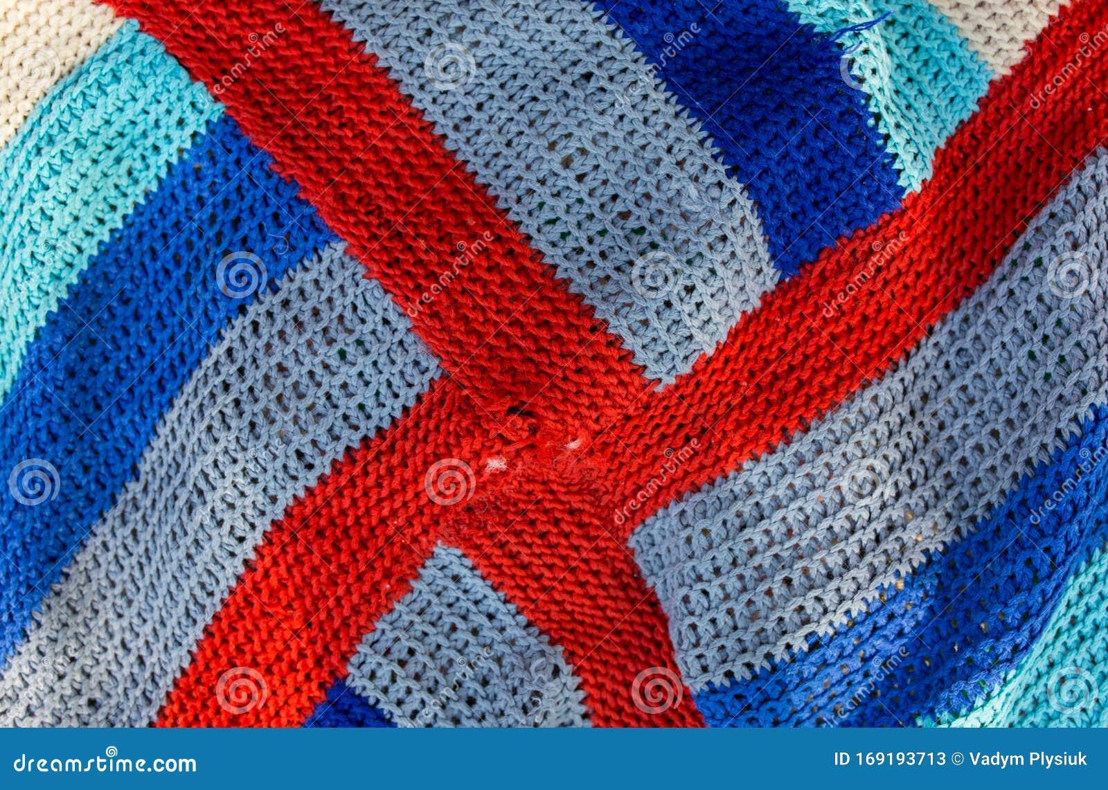Handmade Bright Knitted Hippie Pattern Cloth Texture ...