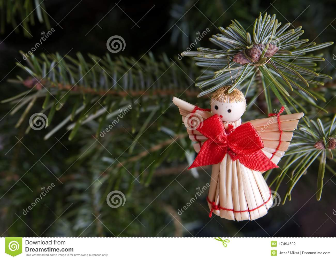 Handmade christmas angel stock photo image of season
