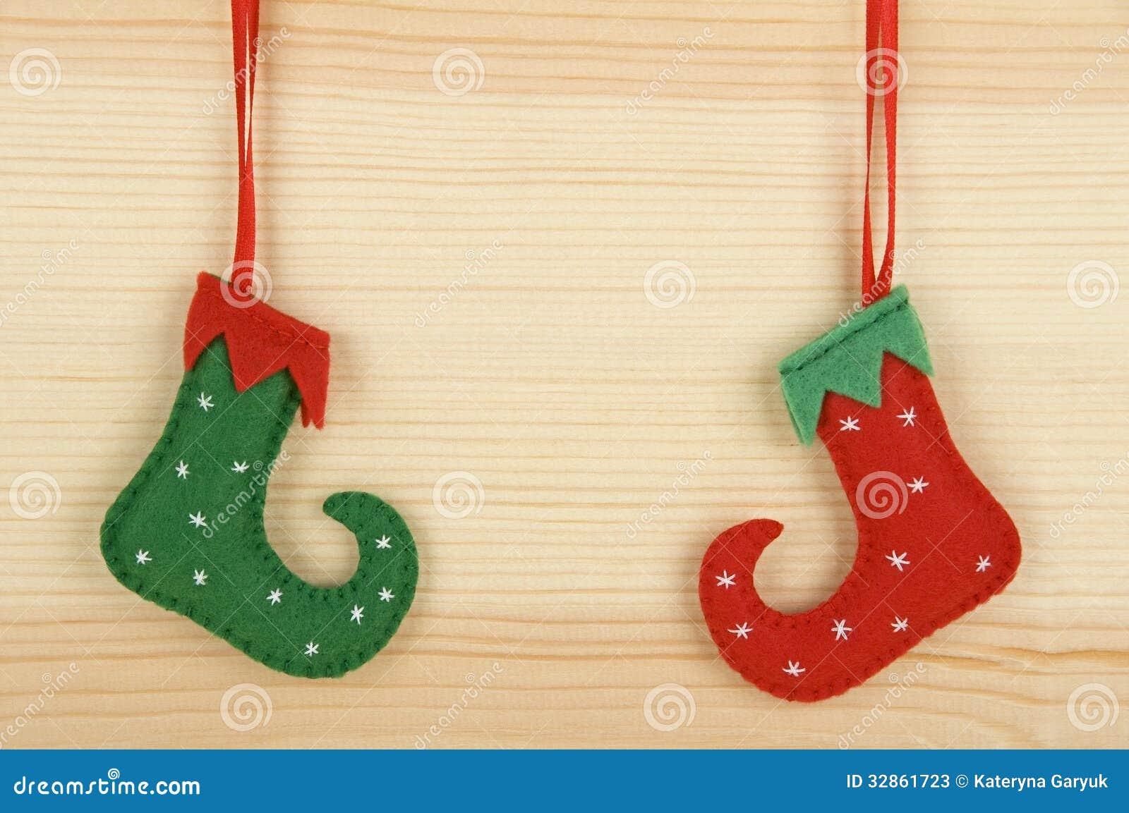 Handmade Christmas Decorations Stock Image Image Of Objects Shoe