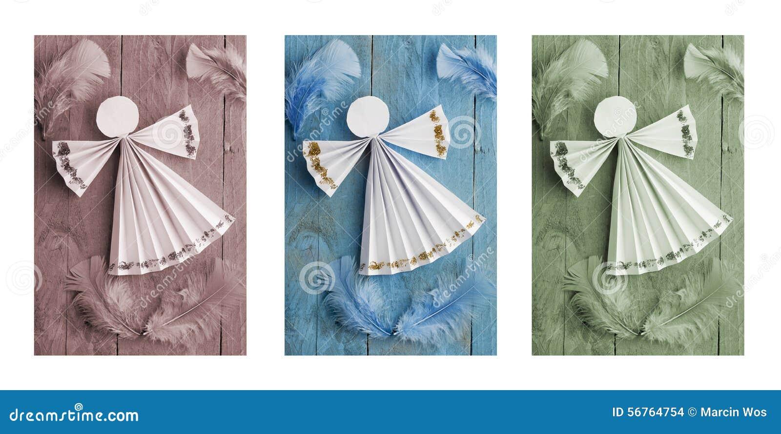 Ангелы с бумаги своими руками