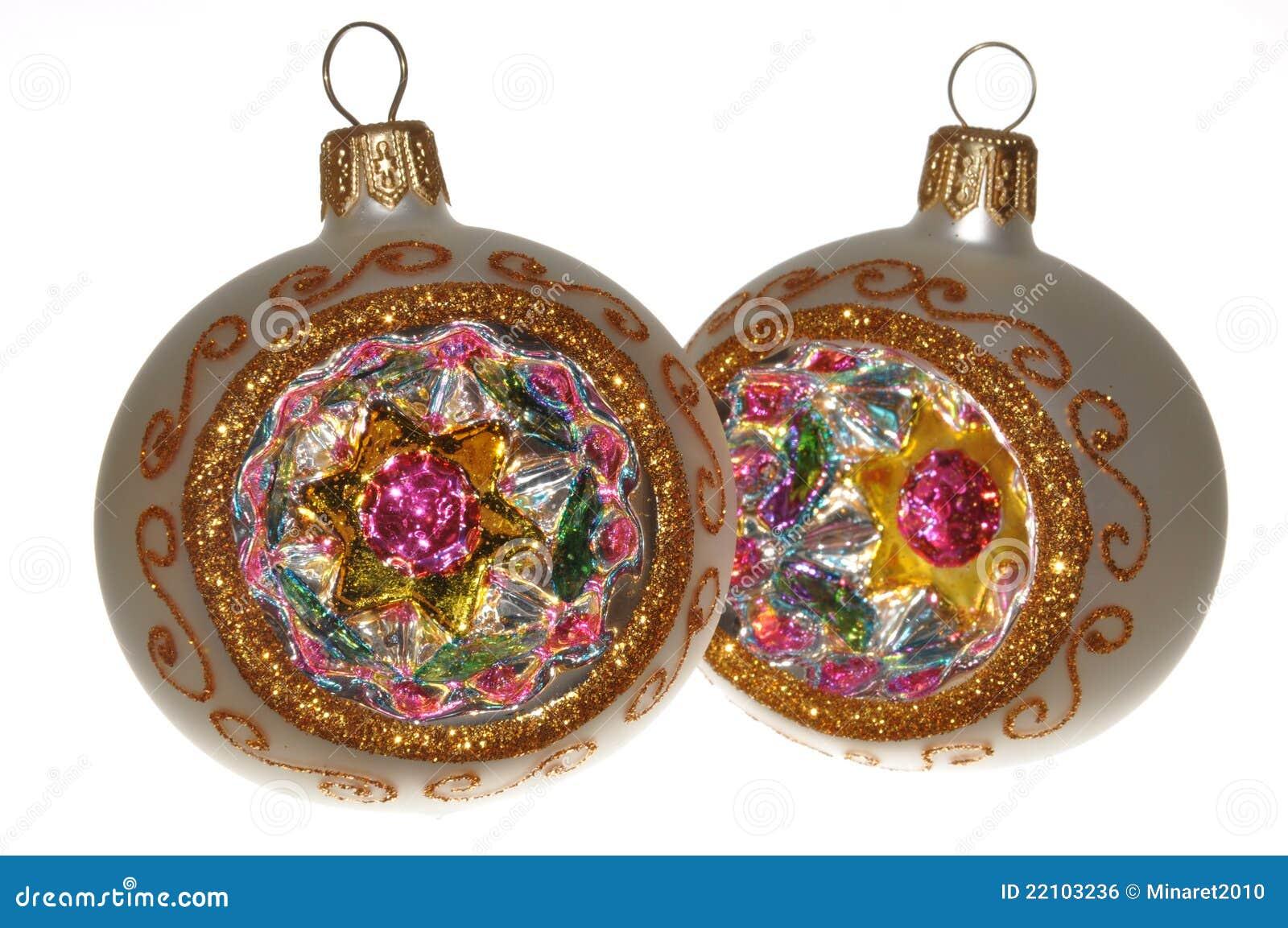 Handmade Christmas Ornaments Royalty Free Stock Image