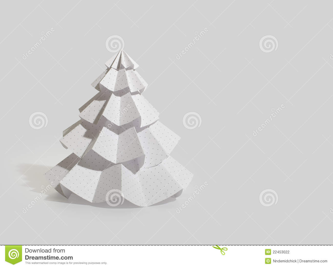 Handmade Christmas Tree Cut Out From Office Paper