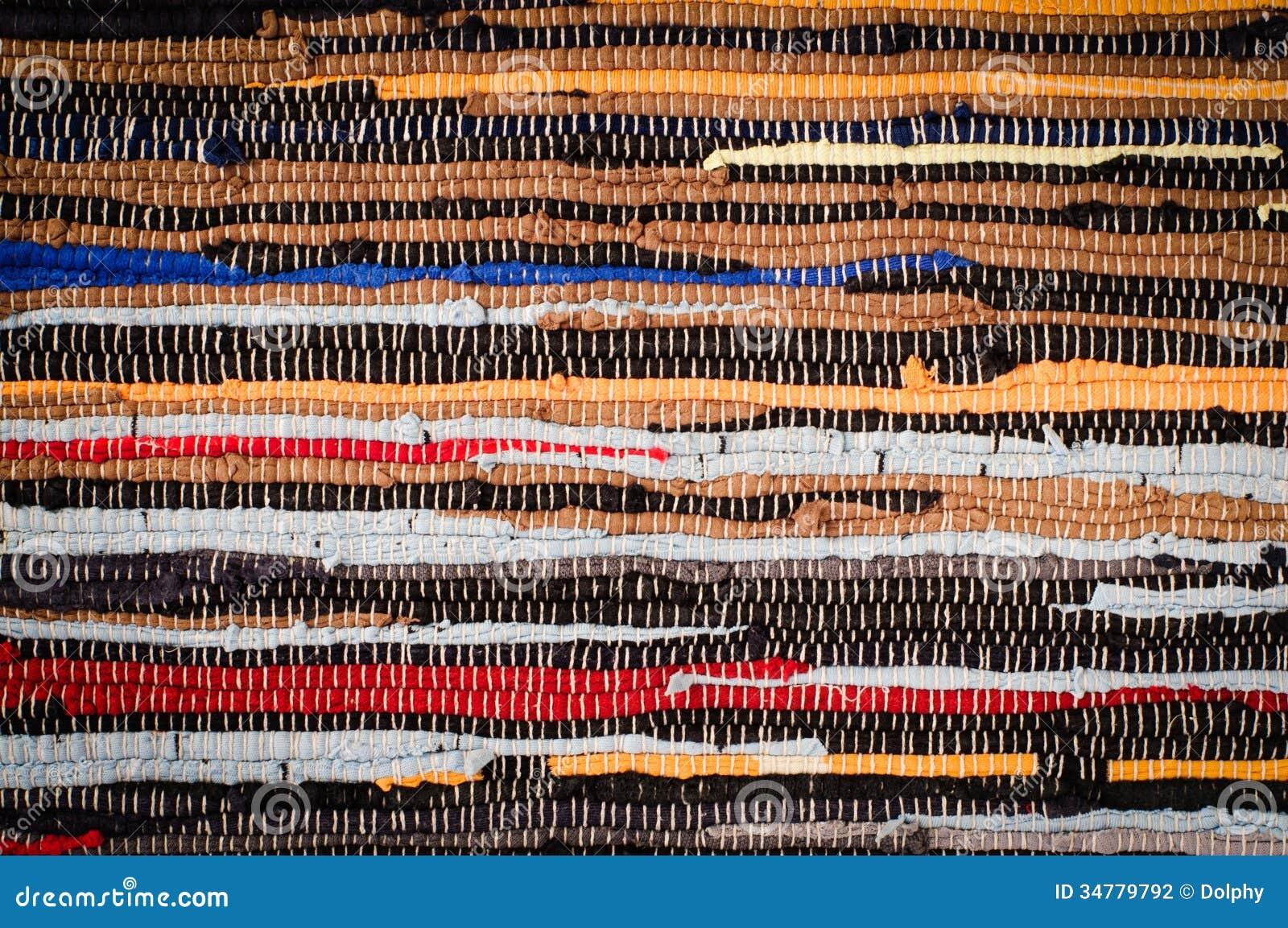 Handmade Cotton Rug Texture Stock Photo - Image: 34779792