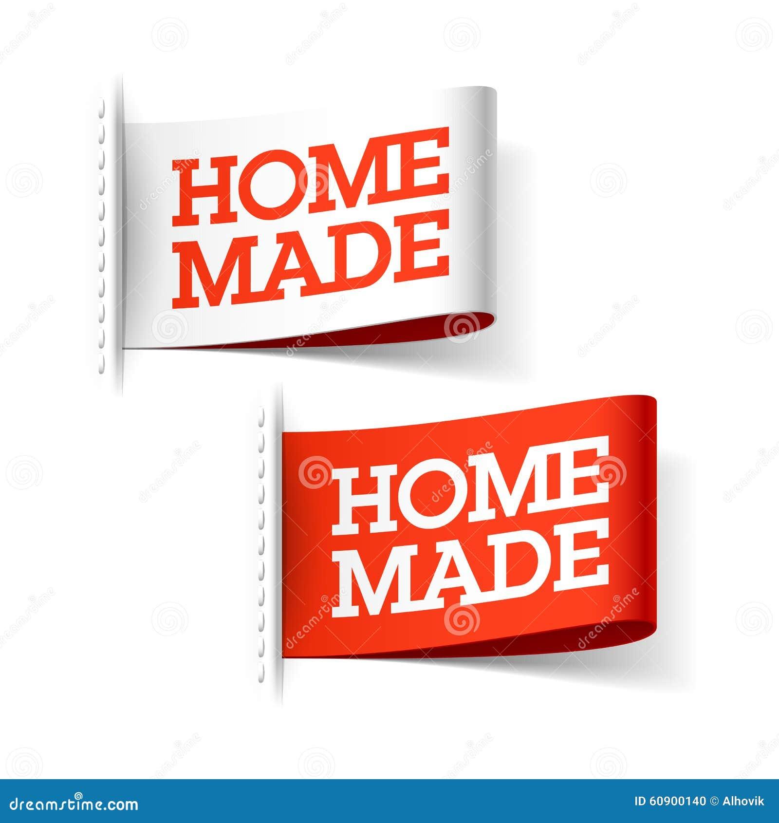 Handmade czerwieni i bielu etykietki