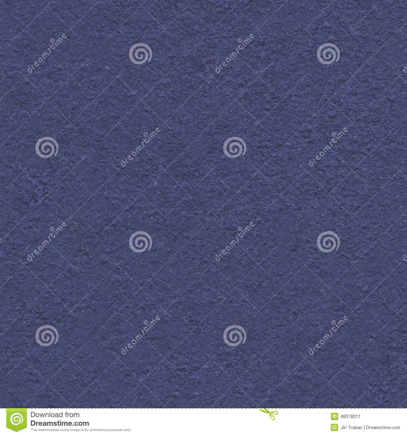 Handmade dark blue seamless paper, crushed fibers in background