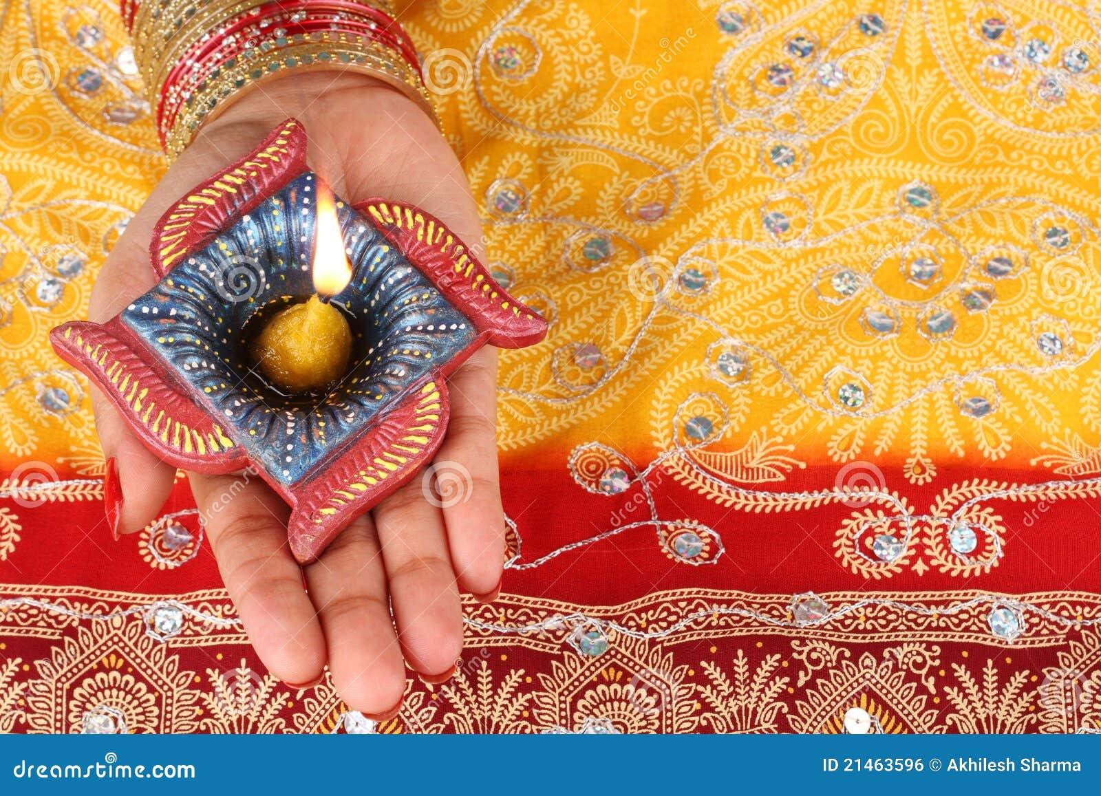 Handmade Diwali Diya Lamp Royalty Free Stock Image - Image: 21463596