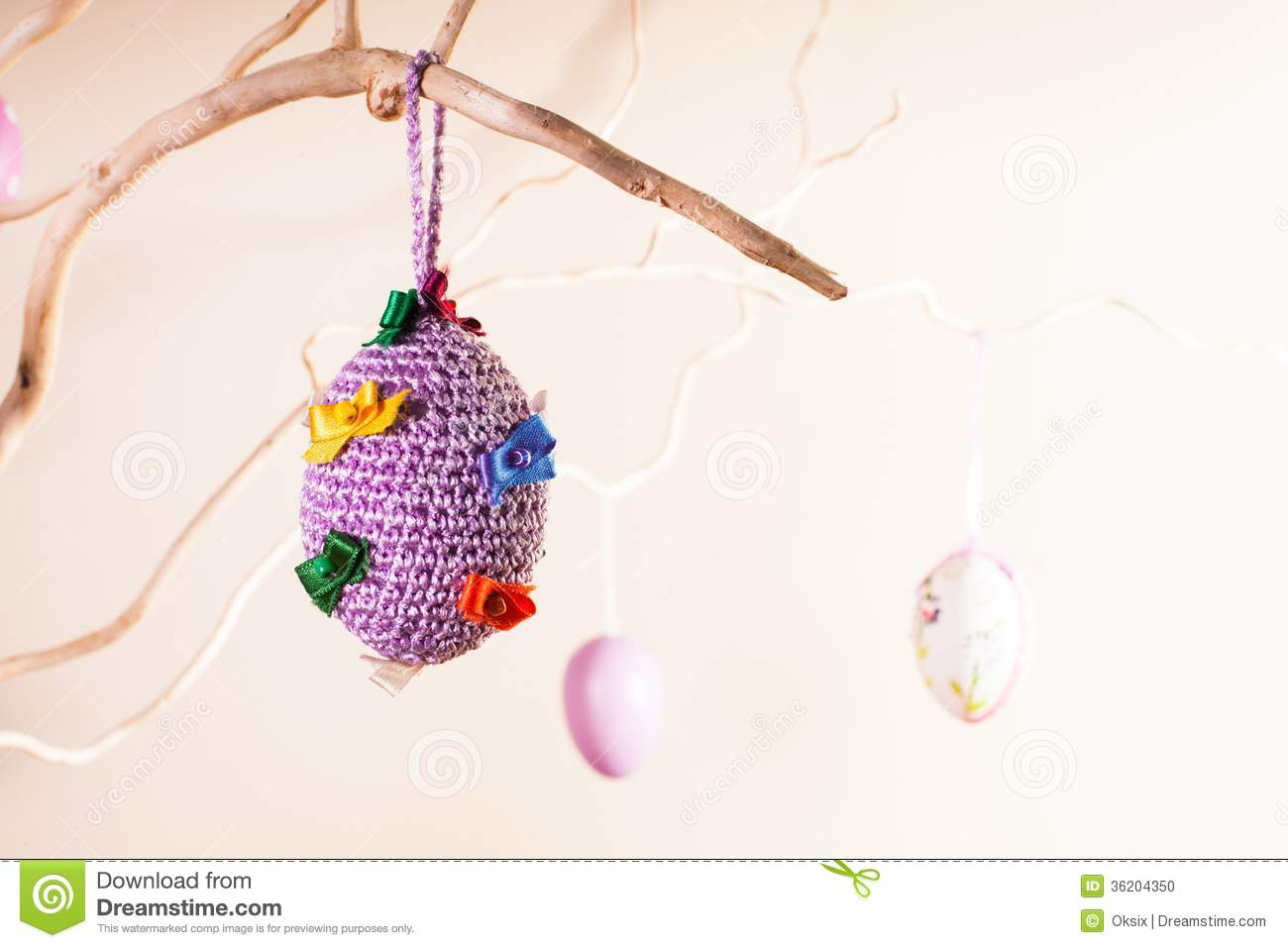 Handmade Easter Decorations Stock Photo - Image: 36204350
