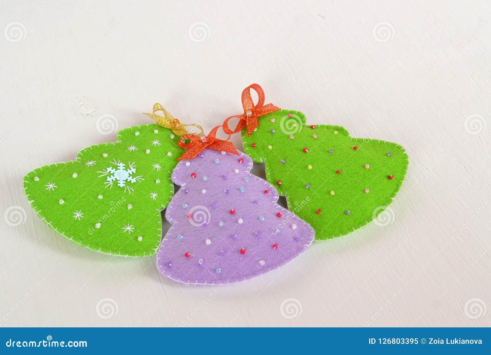Handmade Felt Christmas Trees Handmade Kids Crafts Christmas