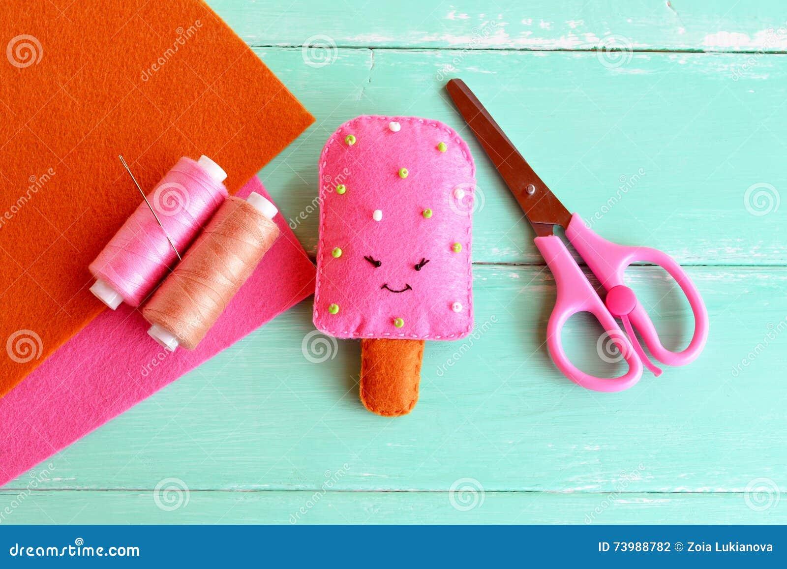 Handmade Felt Ice Felt Food Toy Summer Textile Craft Project