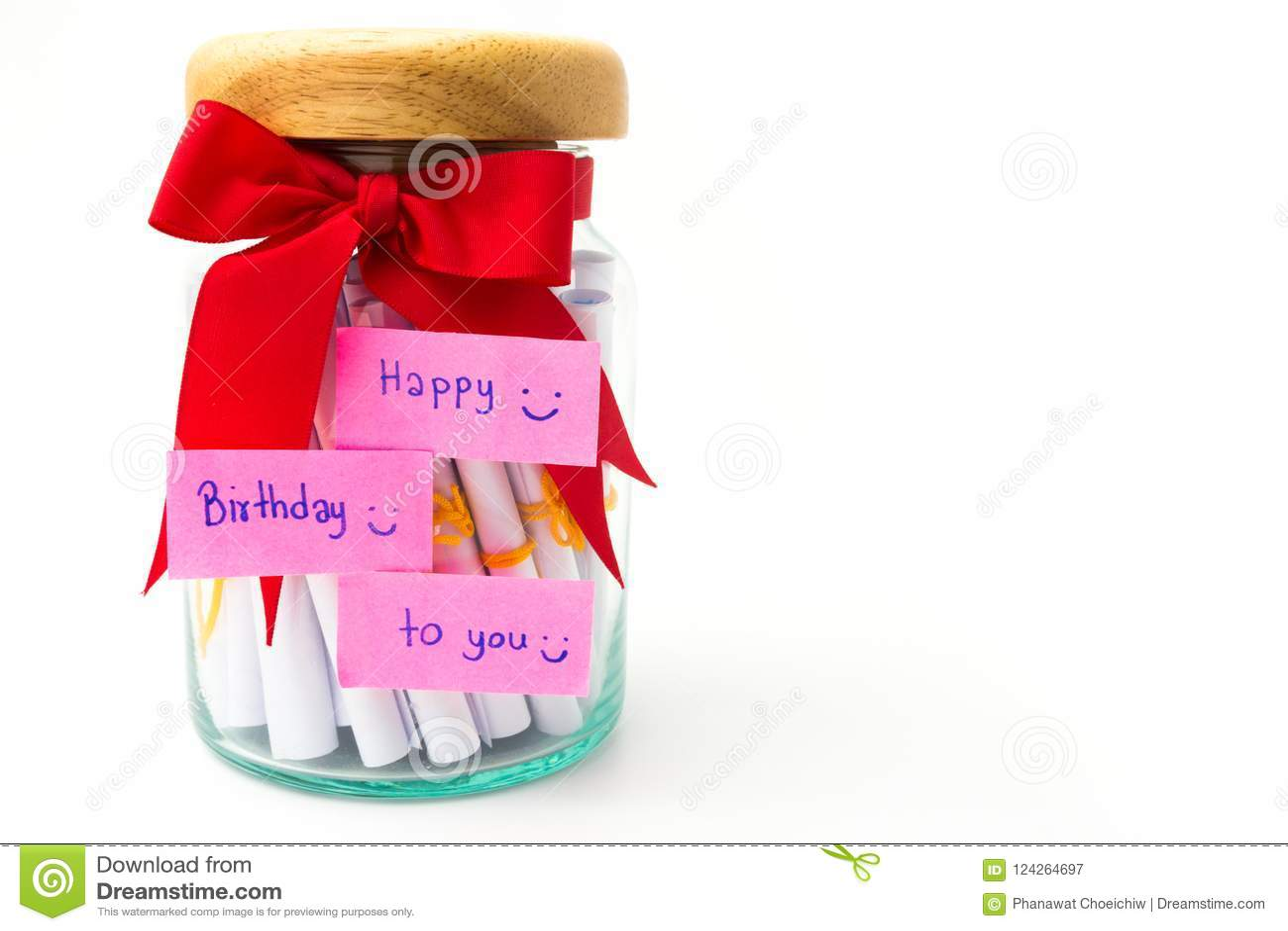 Handmade gift box in birthday isolate on white background.