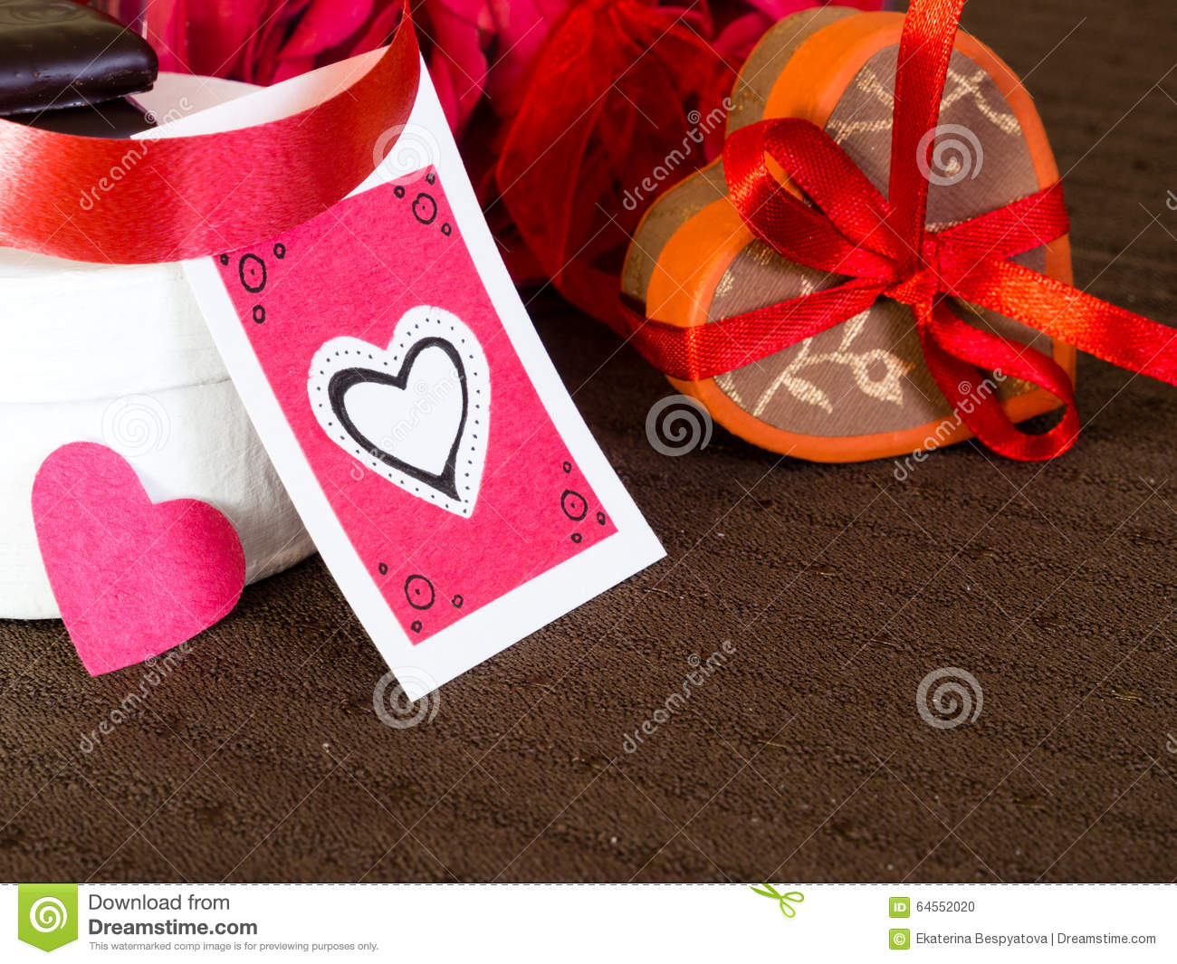 Handmade Gifts For Valentine S Day Stock Photo Image Of Couple