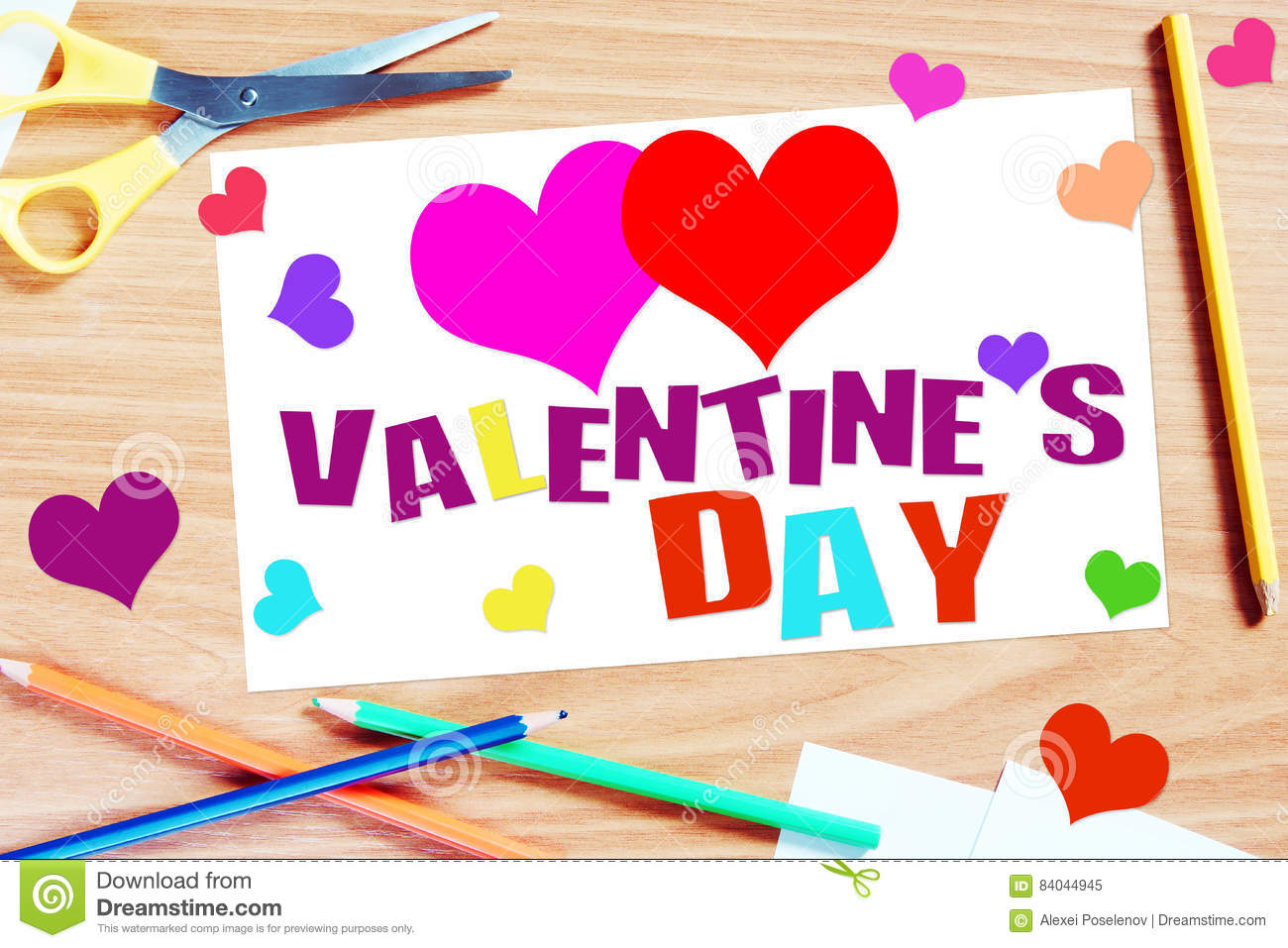 Handmade Greeting Card With Valentine Day Photo Image – Handmade Greeting Cards for Valentine Day
