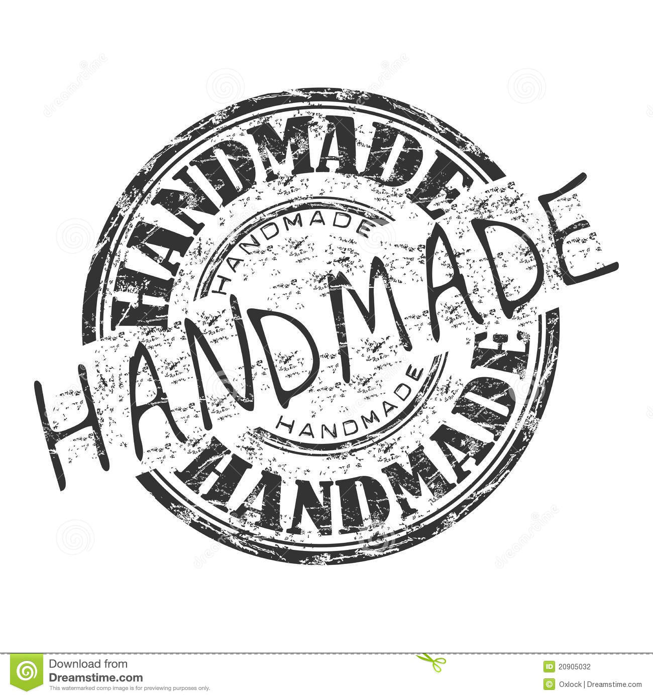 handmade grunge rubber stamp stock vector illustration of aged