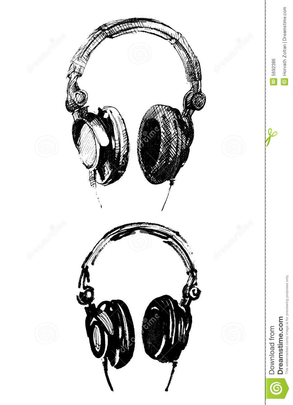 handmade headphone illustrations