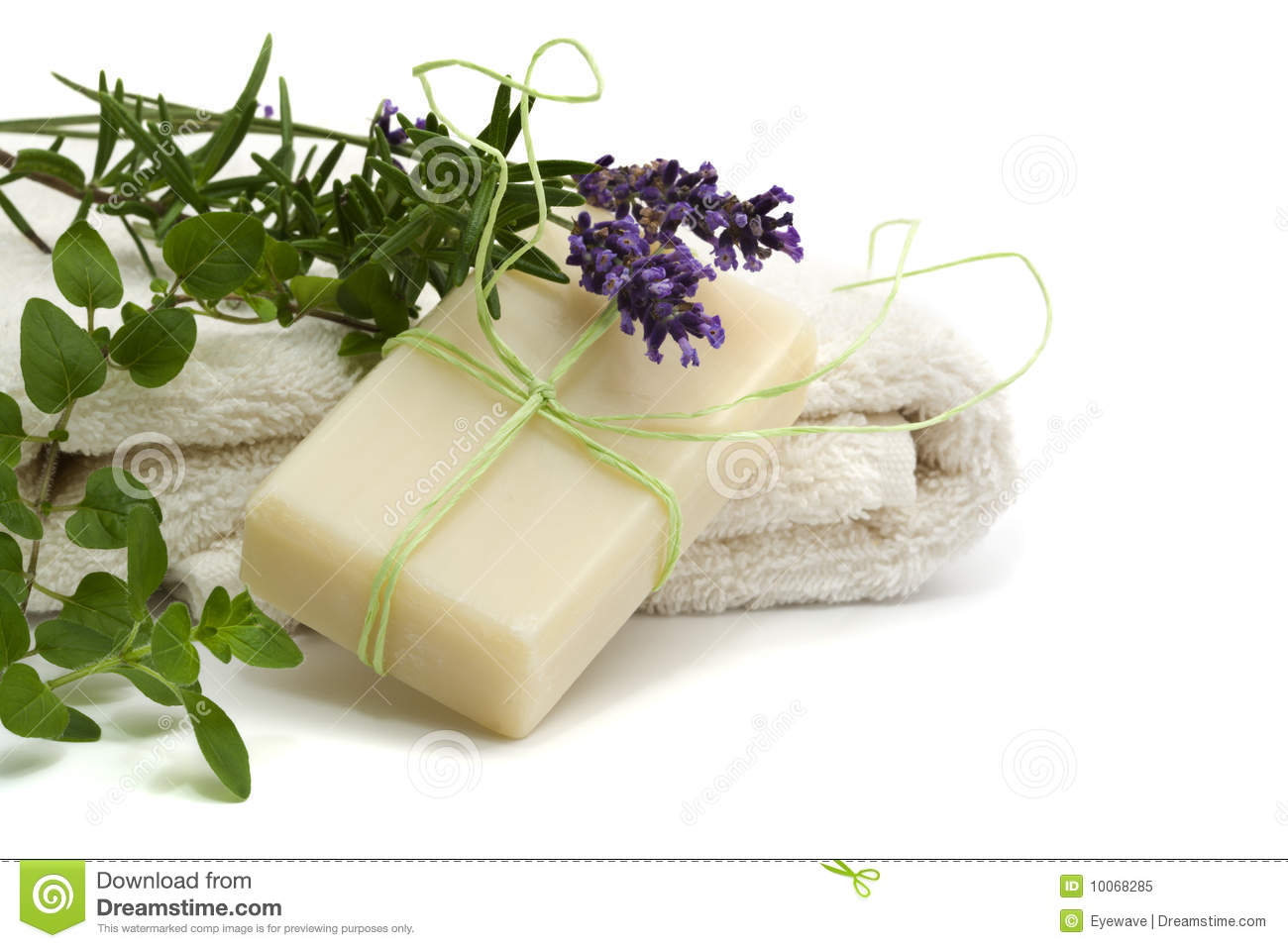 Handmade herbal soap stock image. Image of isolated ...