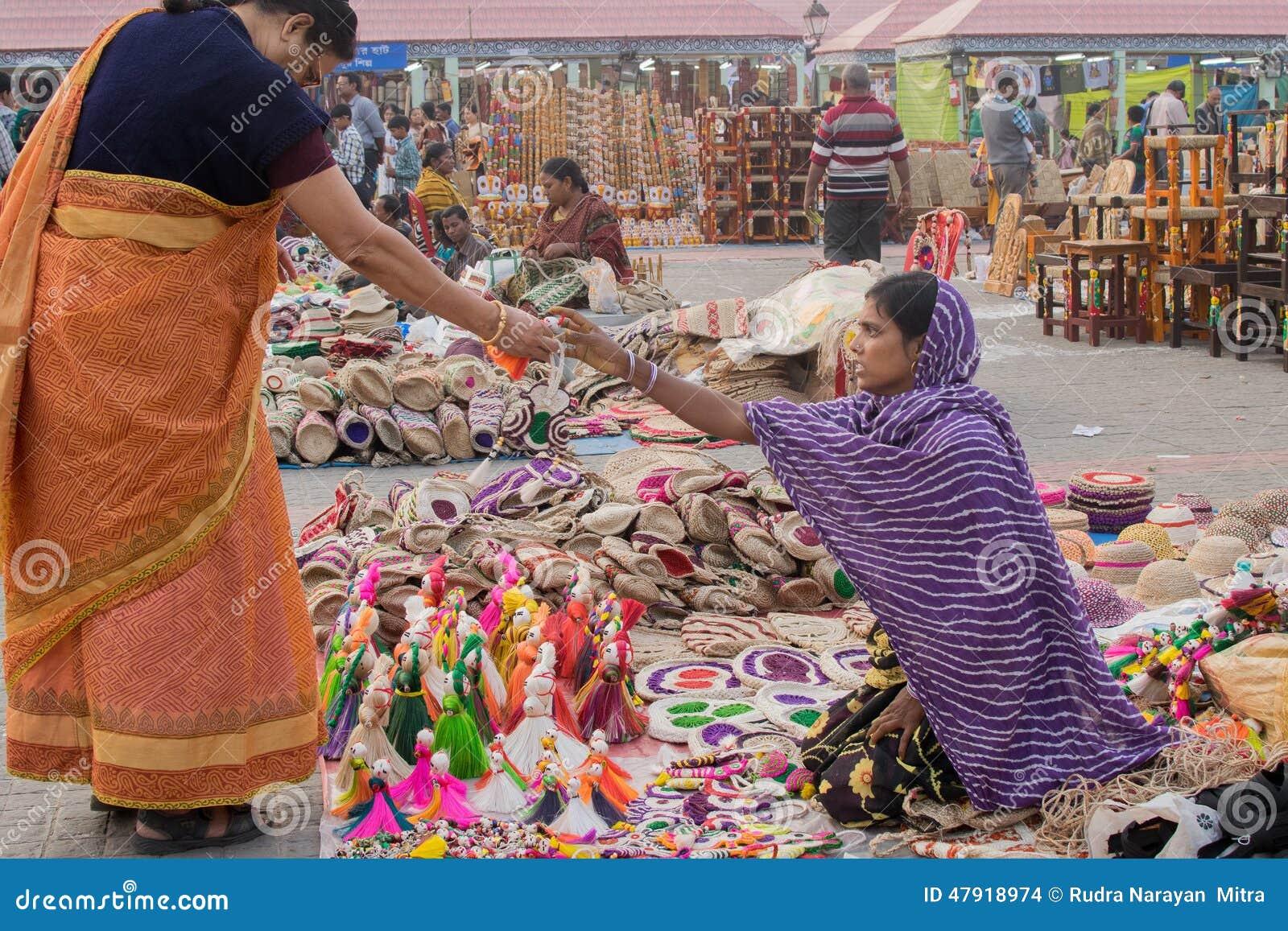 Handmade Jute Dolls Indian Handicrafts Fair At Kolkata Editorial