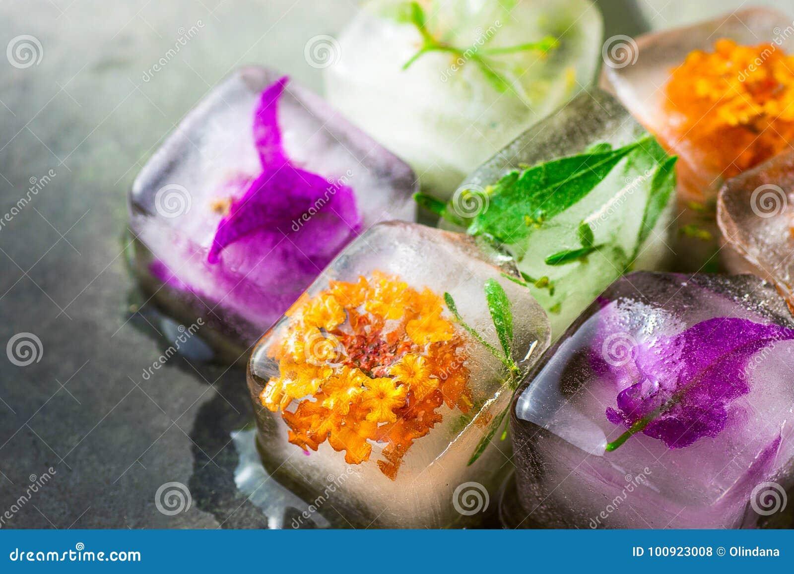 Handmade kostki lodu z Zamarzniętego ziele rośliien kwiatów skóry opieki piękna Twarzowego zdroju Antym starzeniem się